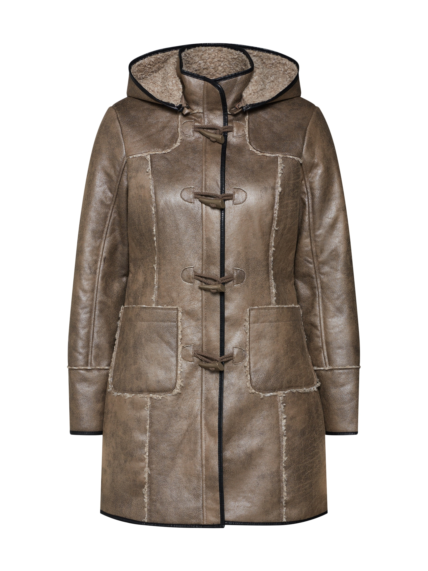 Zimní kabát mokka Gipsy