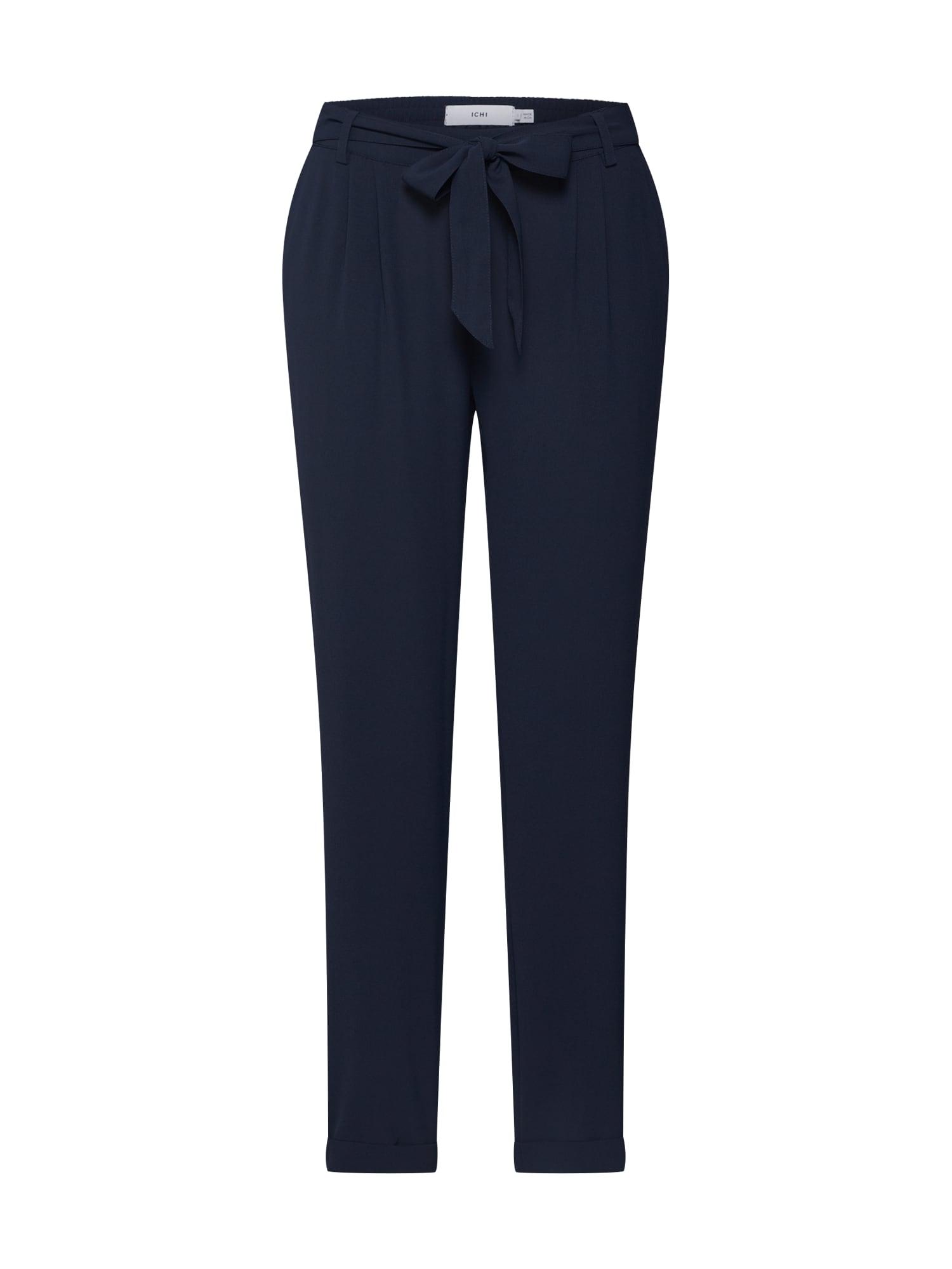 ICHI Chino stiliaus kelnės tamsiai mėlyna