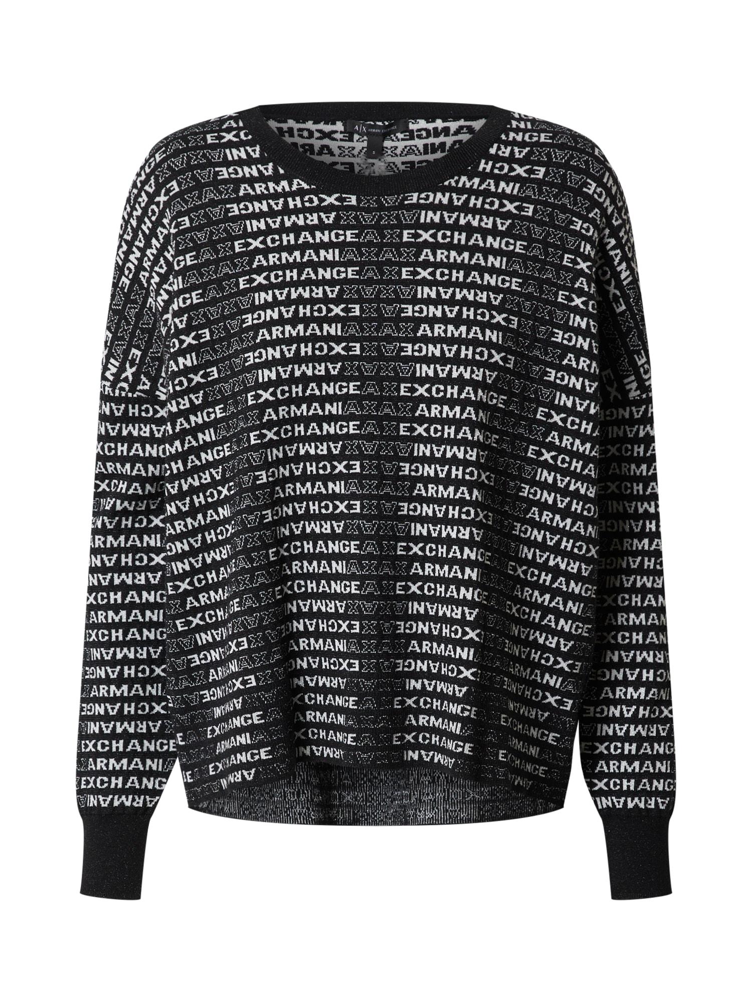 ARMANI EXCHANGE Megztinis juoda / pilka