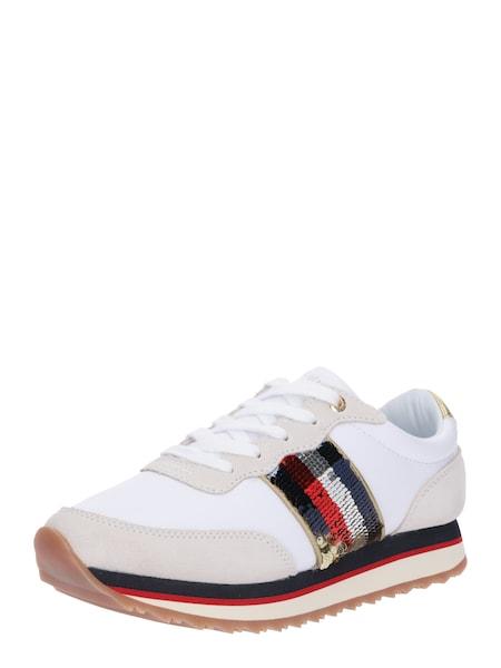 Sneakers für Frauen - TOMMY HILFIGER Sneaker 'TOMMY SEQUINS RETRO RUNNER' weiß  - Onlineshop ABOUT YOU