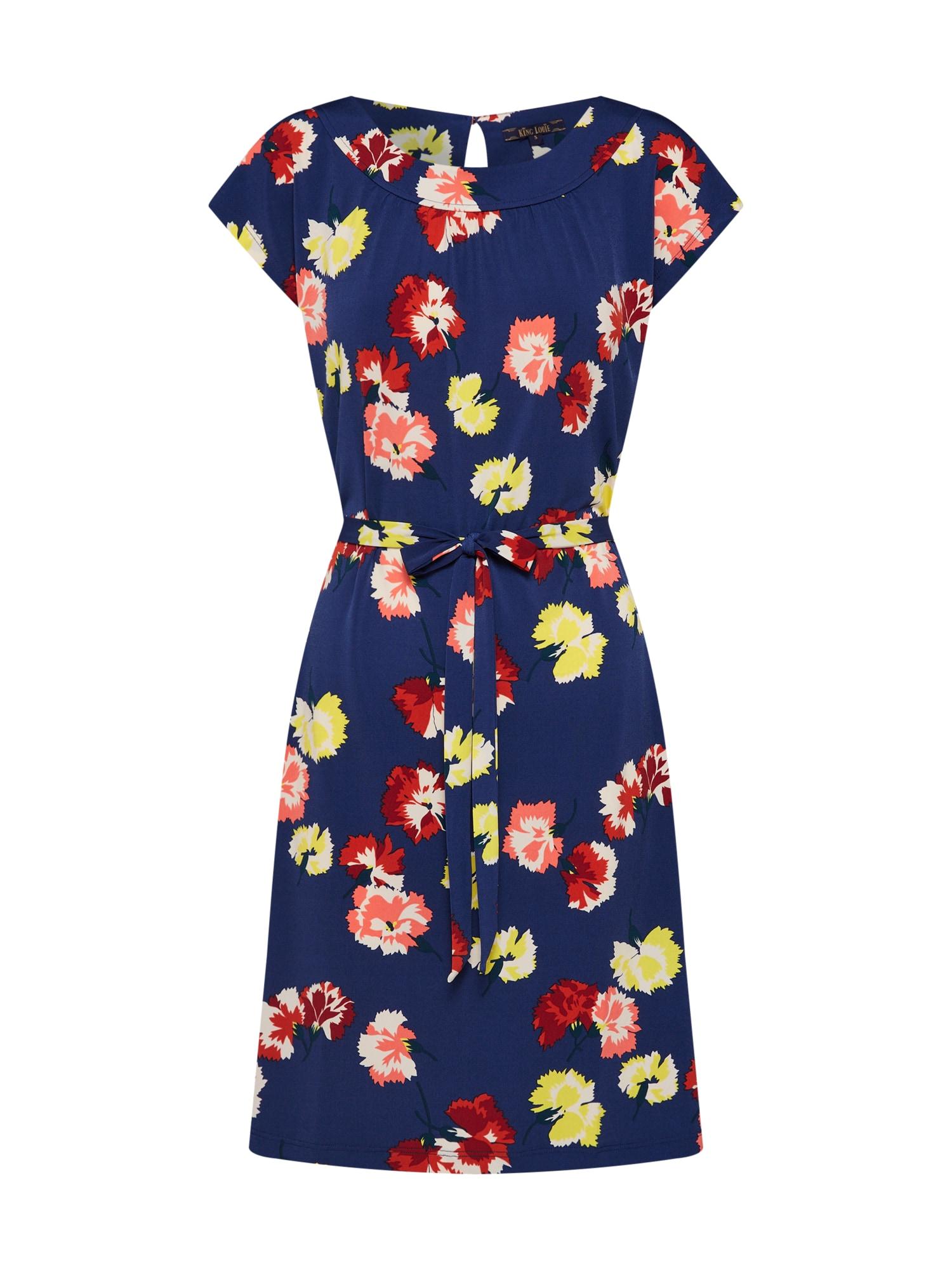 Letní šaty Mimosa tmavě modrá mix barev King Louie