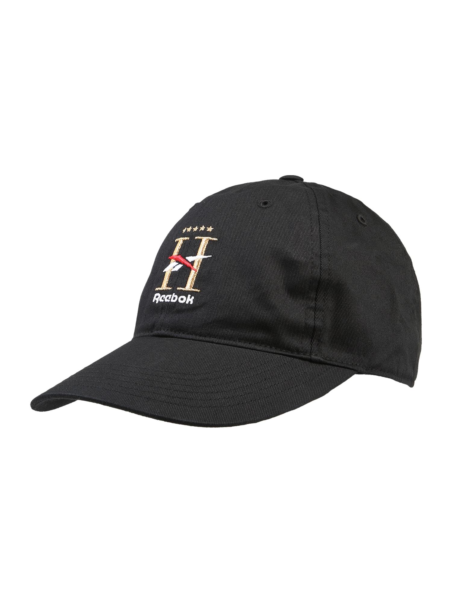 Reebok Classic Kepurė juoda / aukso geltonumo spalva