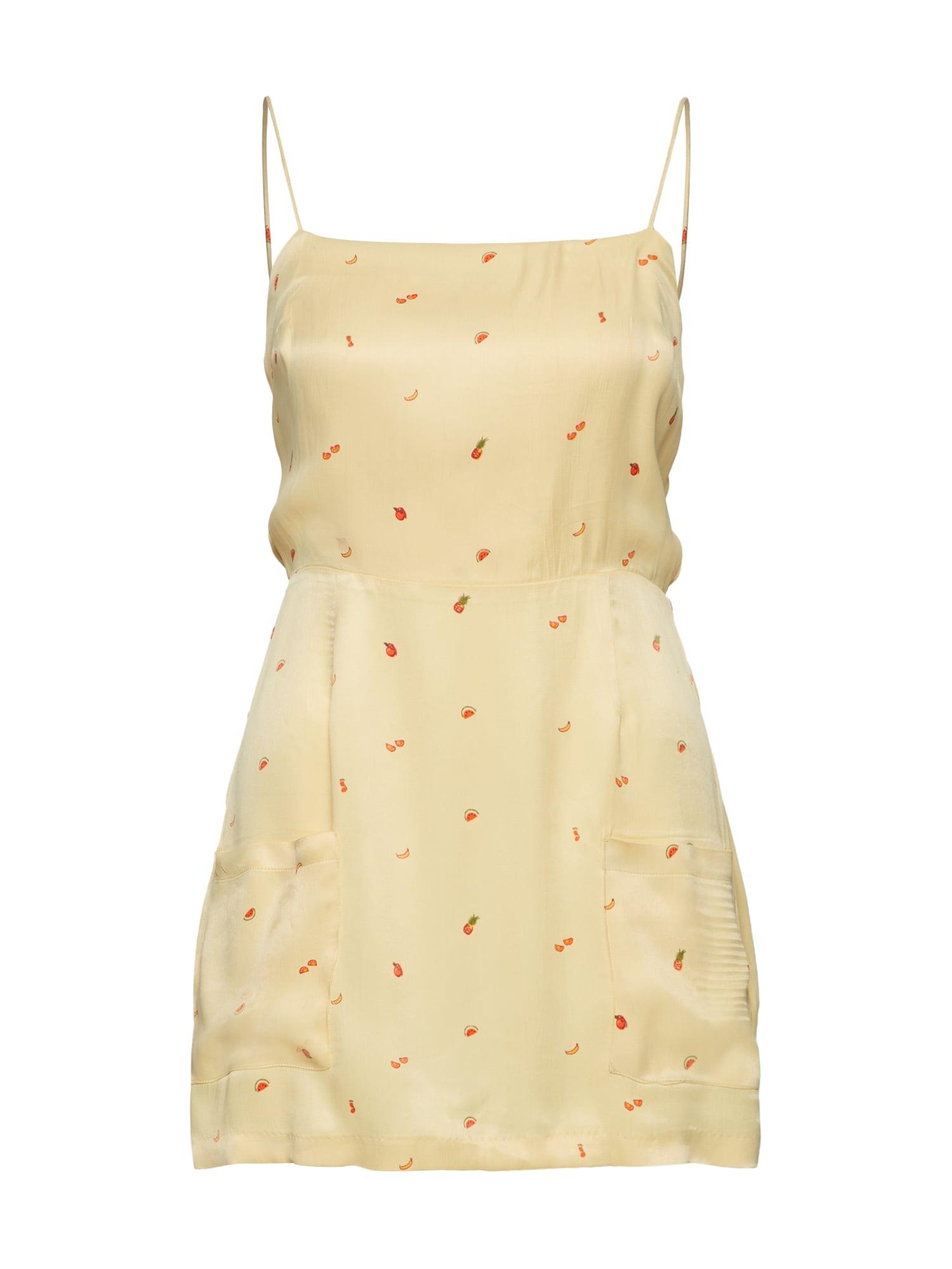 Letní šaty pastelově žlutá Obey