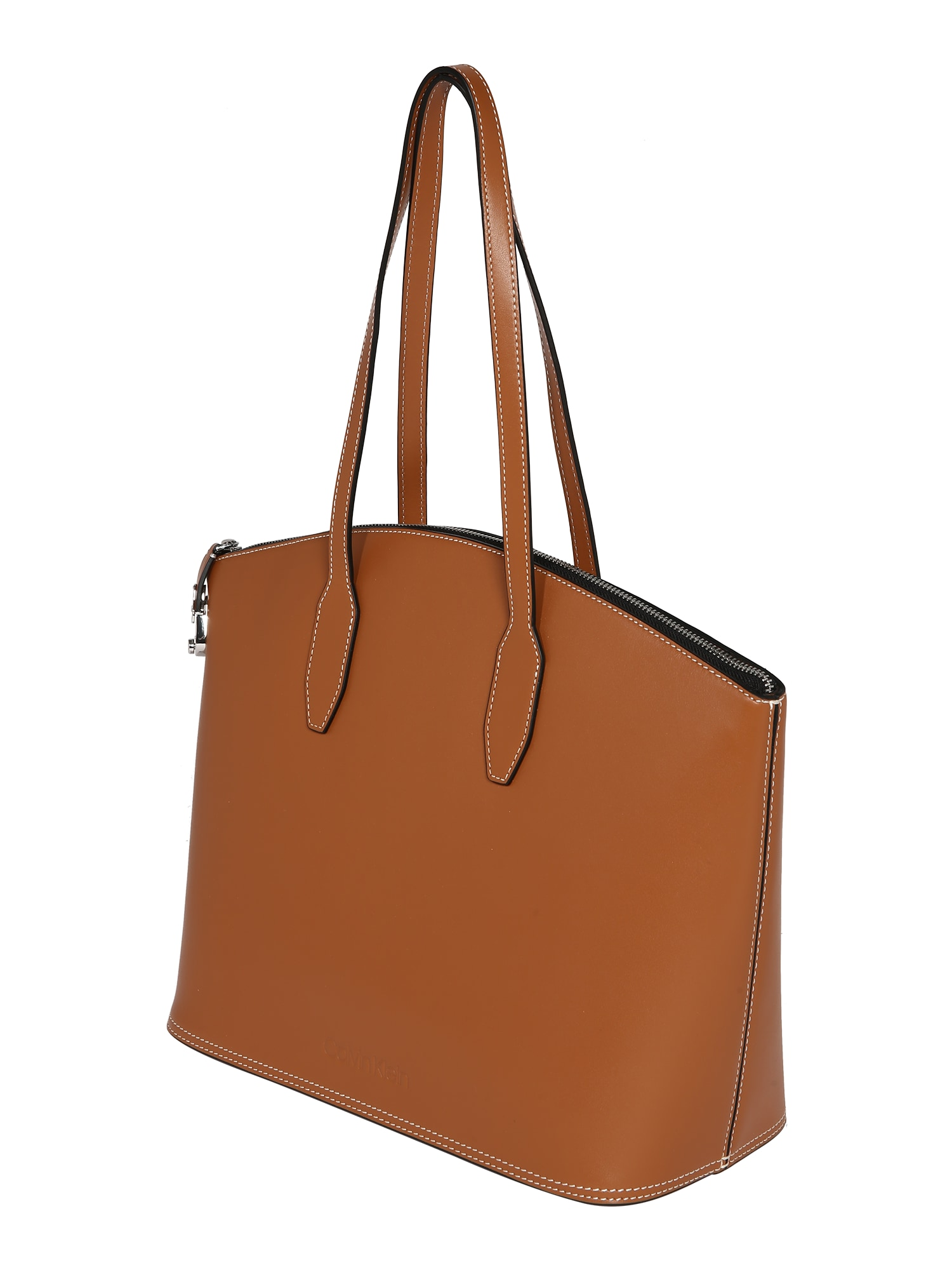 Calvin Klein Pirkinių krepšys 'LOCK DOMED SHOPPER' ruda
