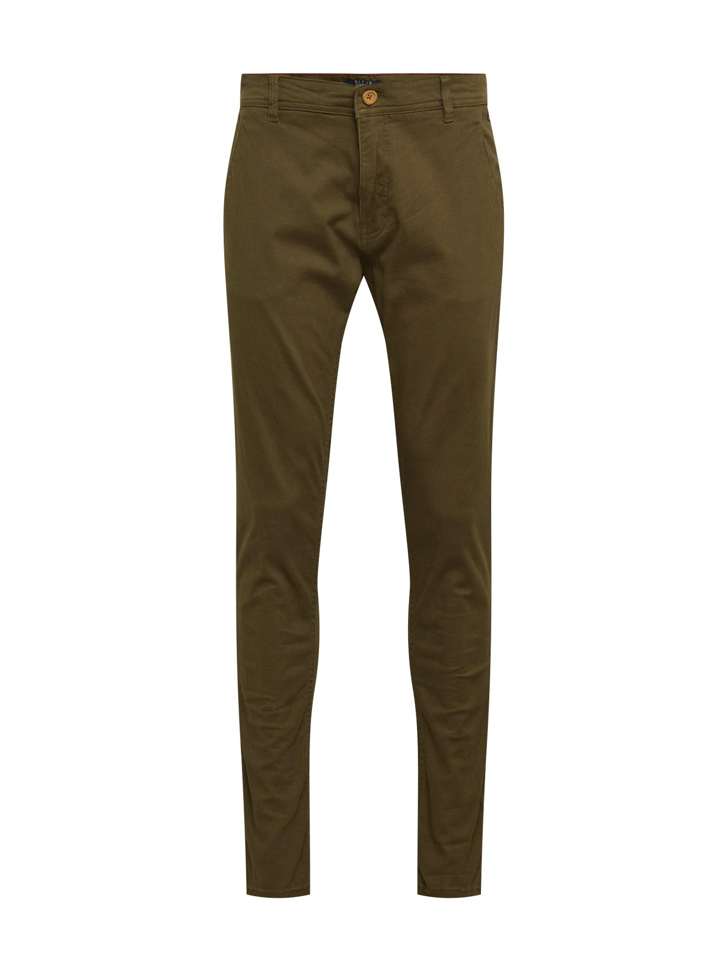 """BLEND """"Chino"""" stiliaus kelnės rusvai žalia"""