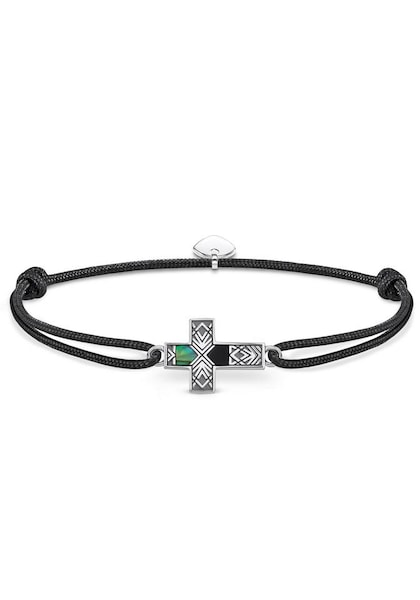 Armbaender - Armband 'Little Secret Kreuz Abalone, LS083 482 11 L22v' › Thomas Sabo › schwarz silber  - Onlineshop ABOUT YOU