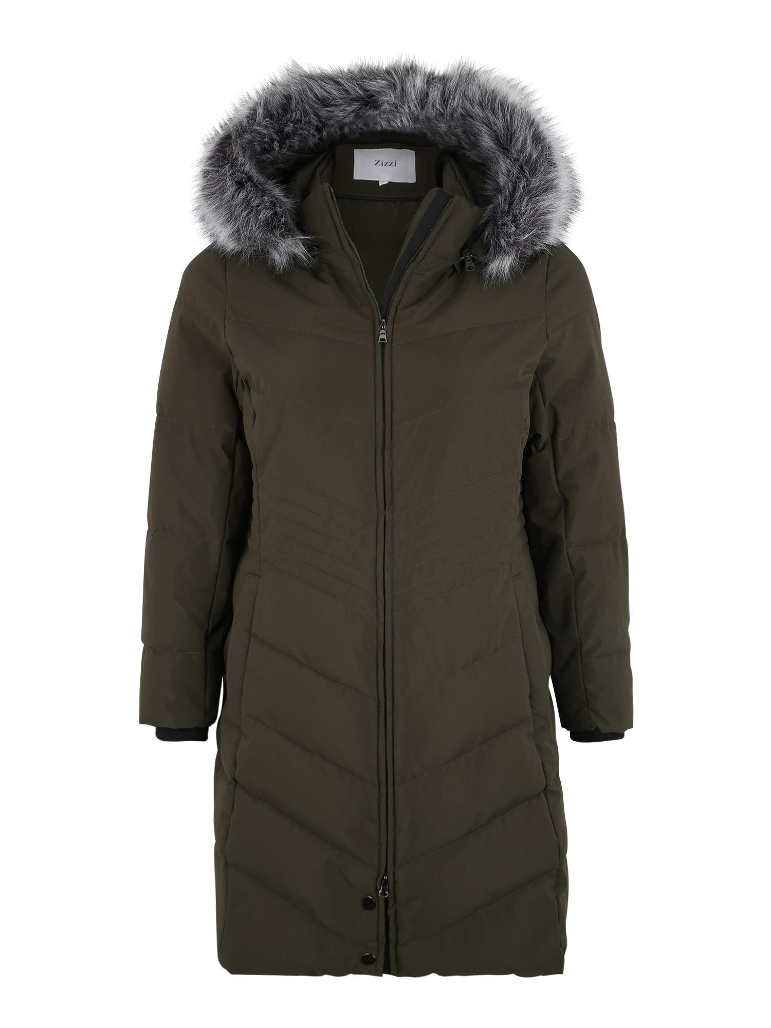 Zizzi Žieminis paltas 'MLUXA' žalia