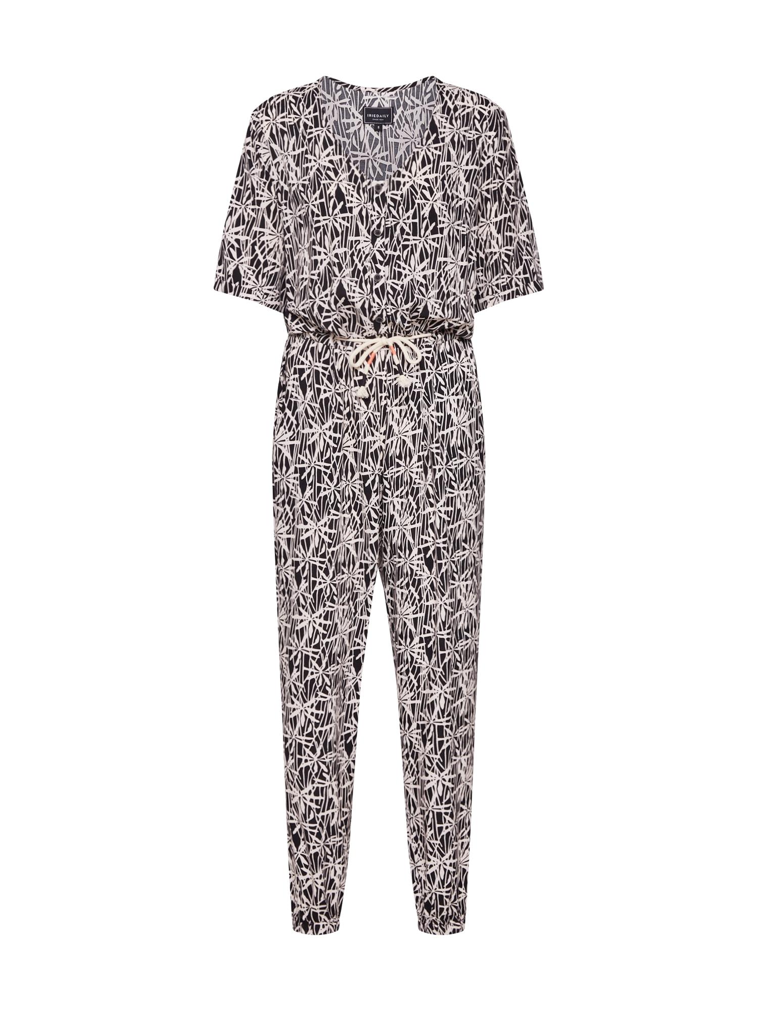 Iriedaily Kombinezono tipo kostiumas 'Bambul' balta / juoda