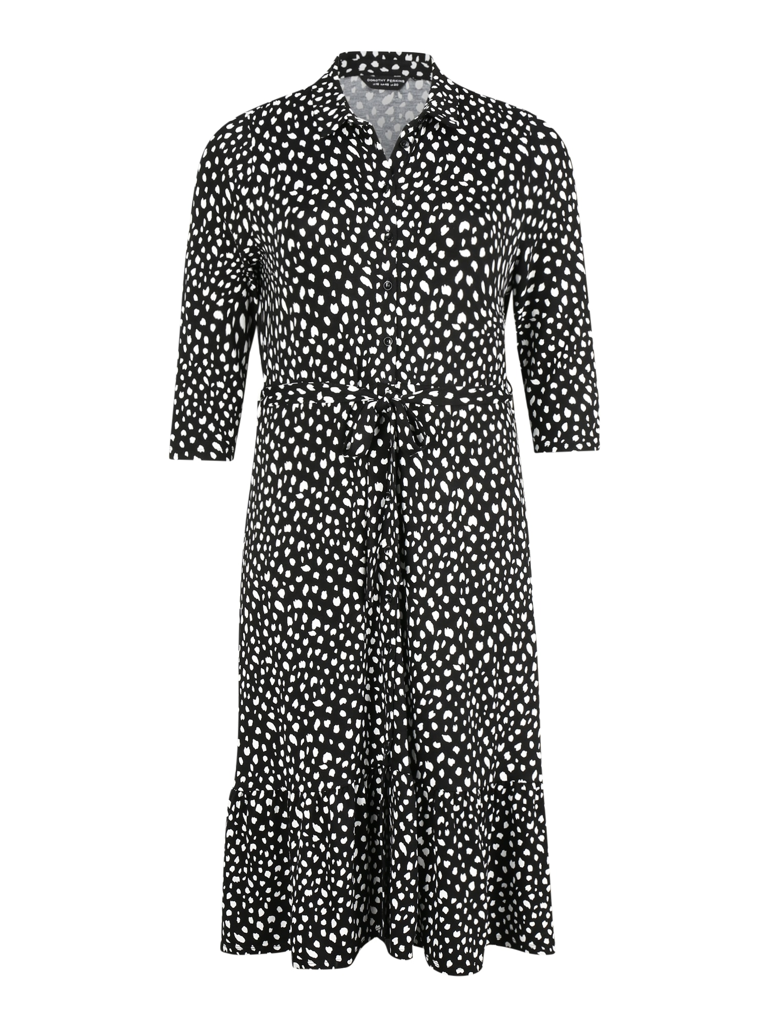 Dorothy Perkins Curve Palaidinės tipo suknelė 'SPOT SHIRT DRESS' juoda