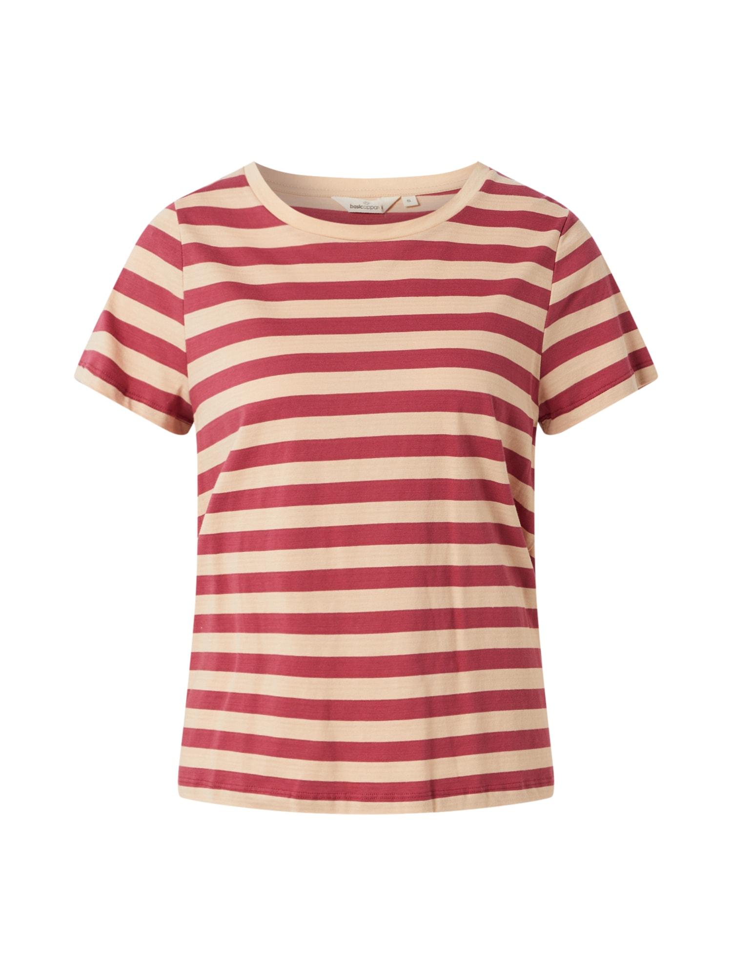 basic apparel Marškinėliai 'Elvine' raudona