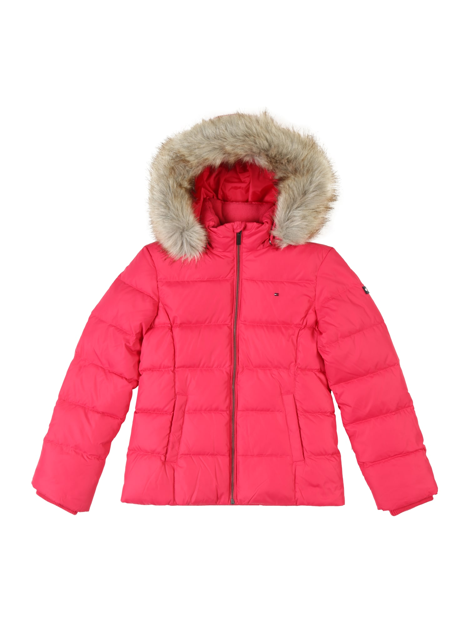 Přechodná bunda ESSENTIAL BASIC pink TOMMY HILFIGER