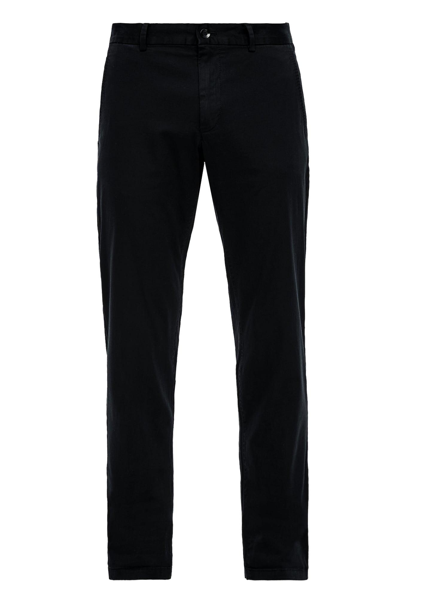 s.Oliver BLACK LABEL Chino nohavice  čierna