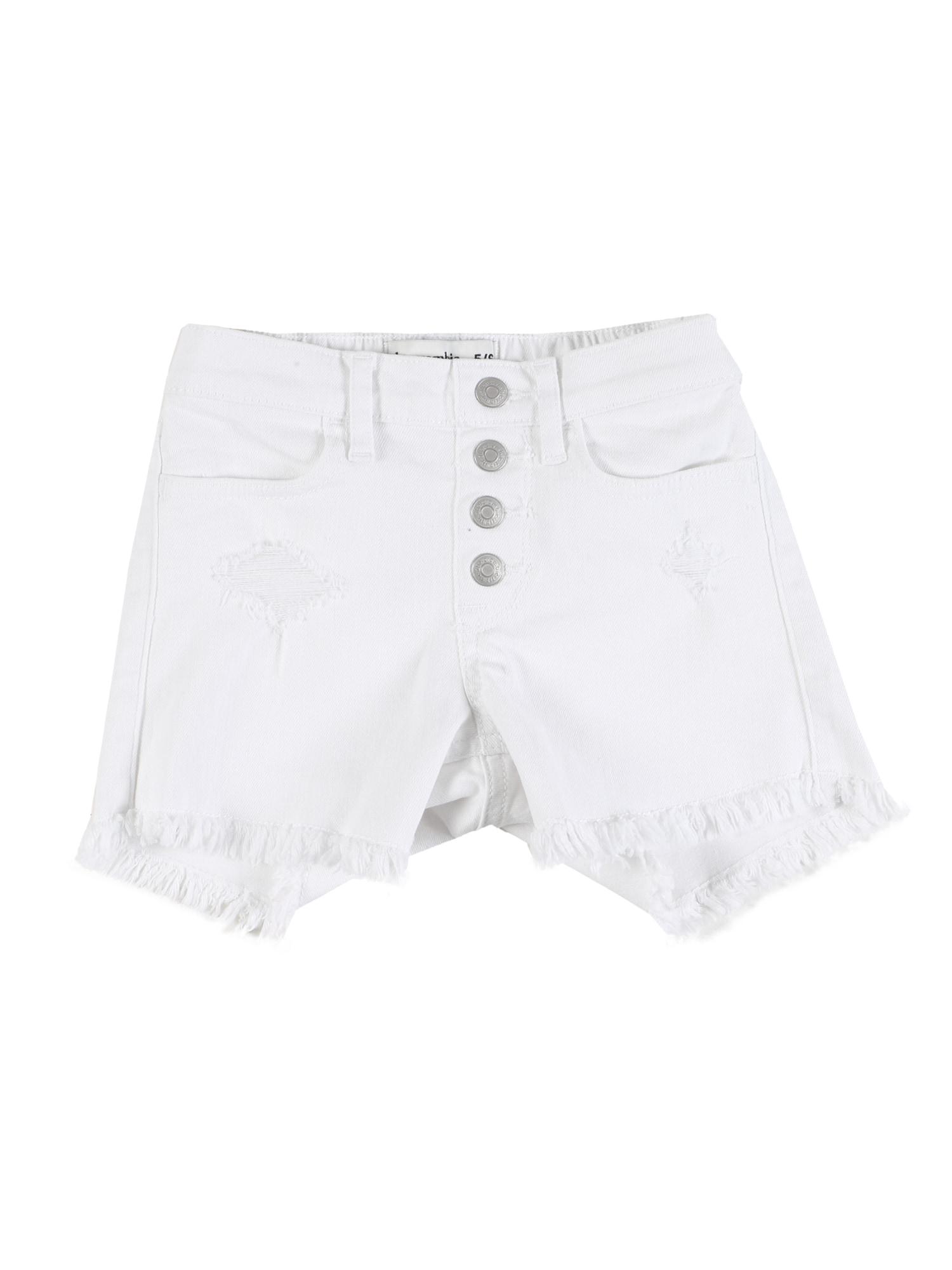 Abercrombie & Fitch Kelnės balto džinso spalva