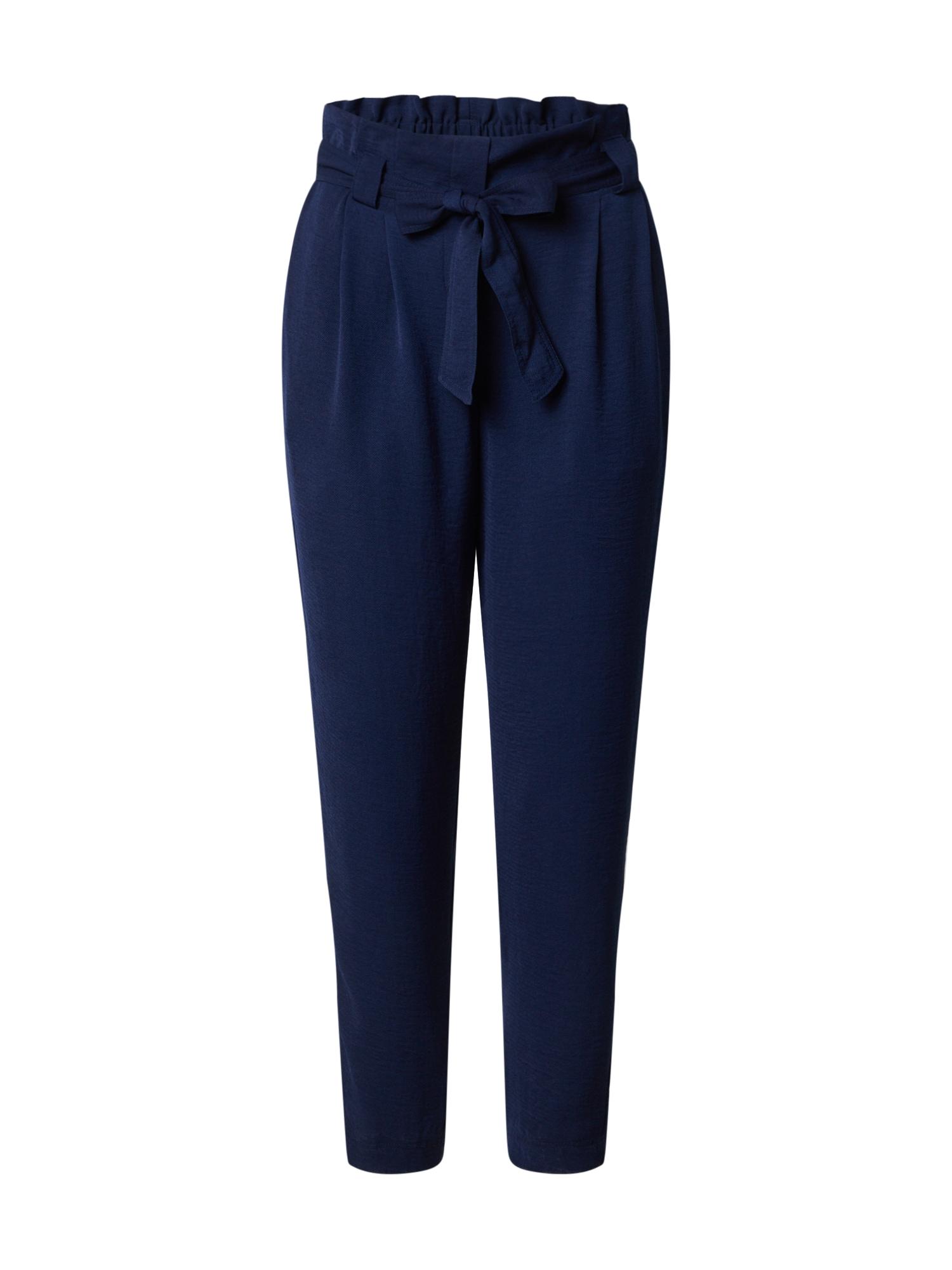 Dorothy Perkins Klostuotos kelnės tamsiai mėlyna