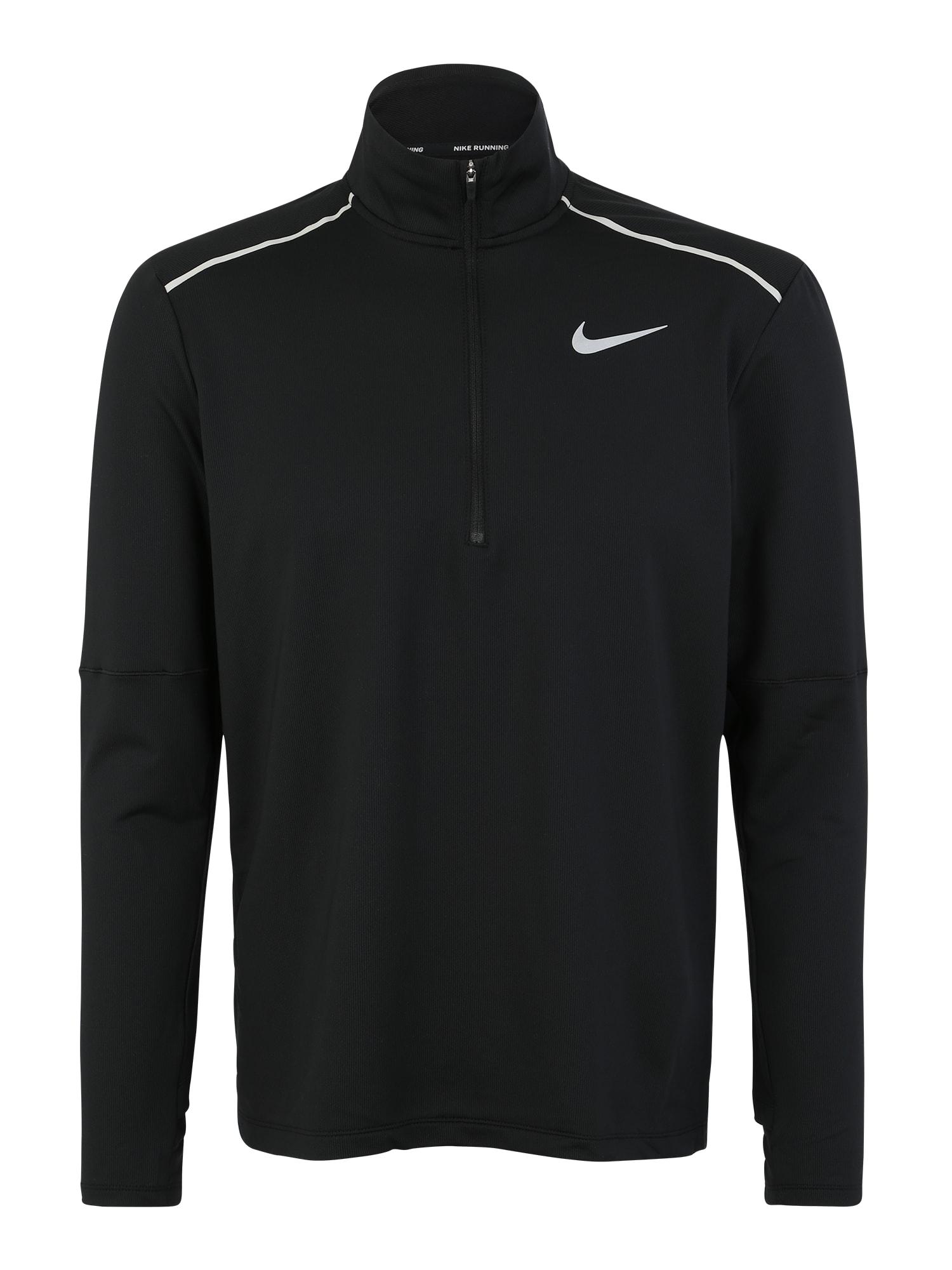 NIKE Sportiniai marškinėliai juoda / balta