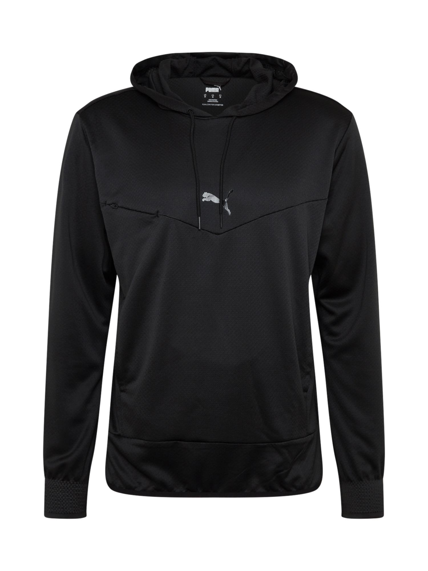 PUMA Sportinio tipo megztinis juoda