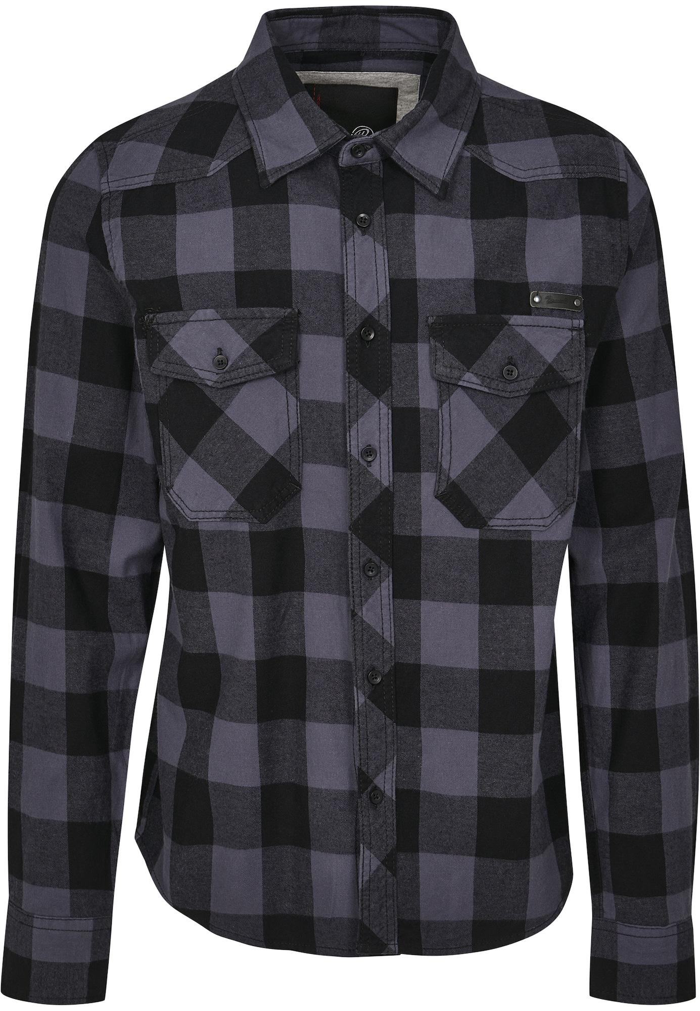 Brandit Marškiniai juoda / pilka / margai pilka
