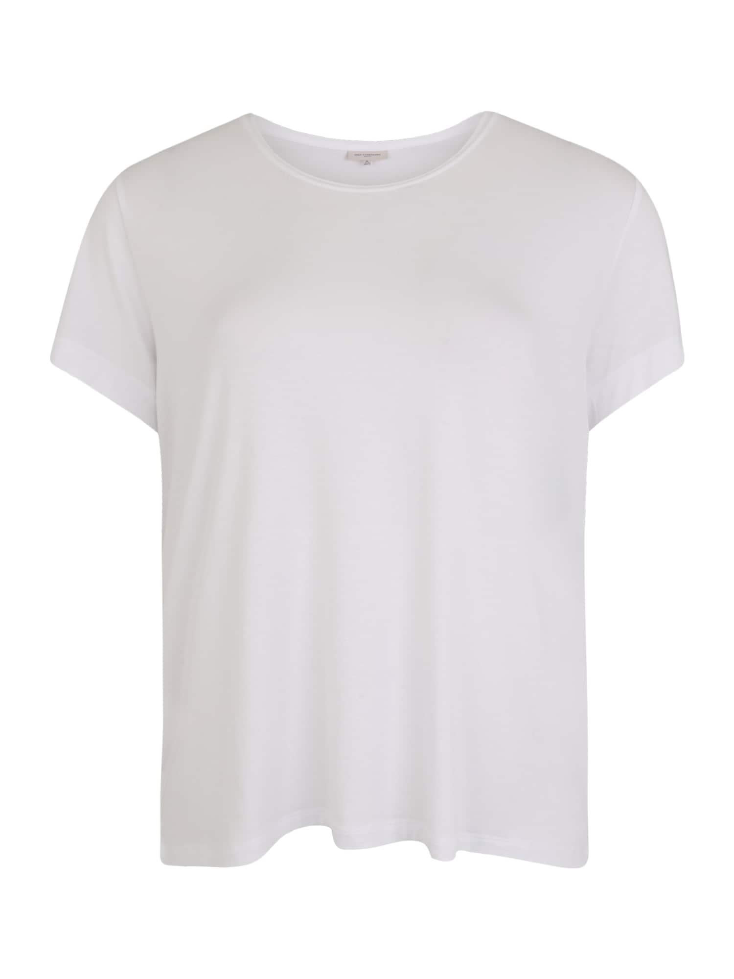 ONLY Carmakoma Marškinėliai balta