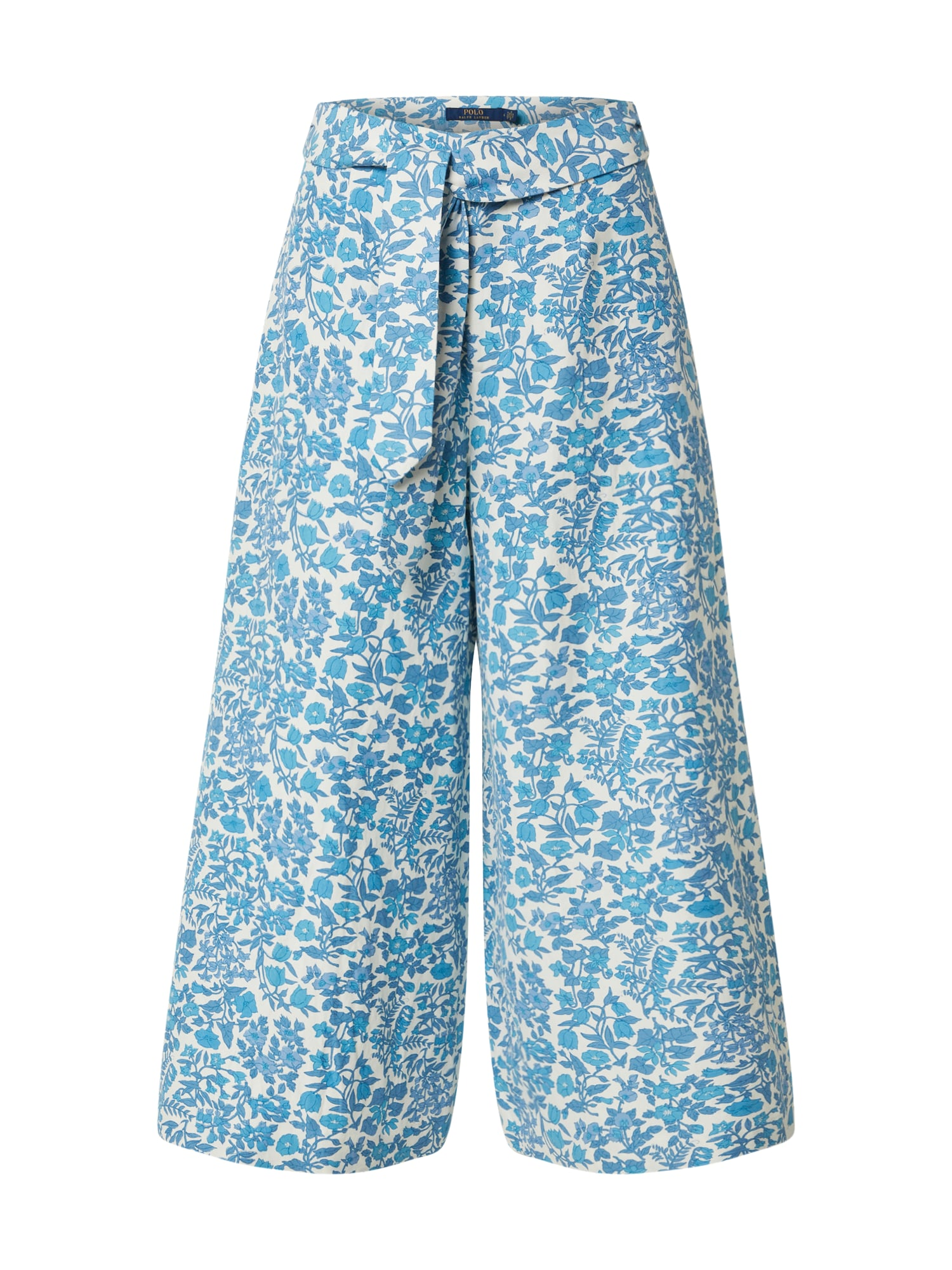 POLO RALPH LAUREN Kelnės 'KLY PT-WIDE LEG-PANT' balta / mėlyna