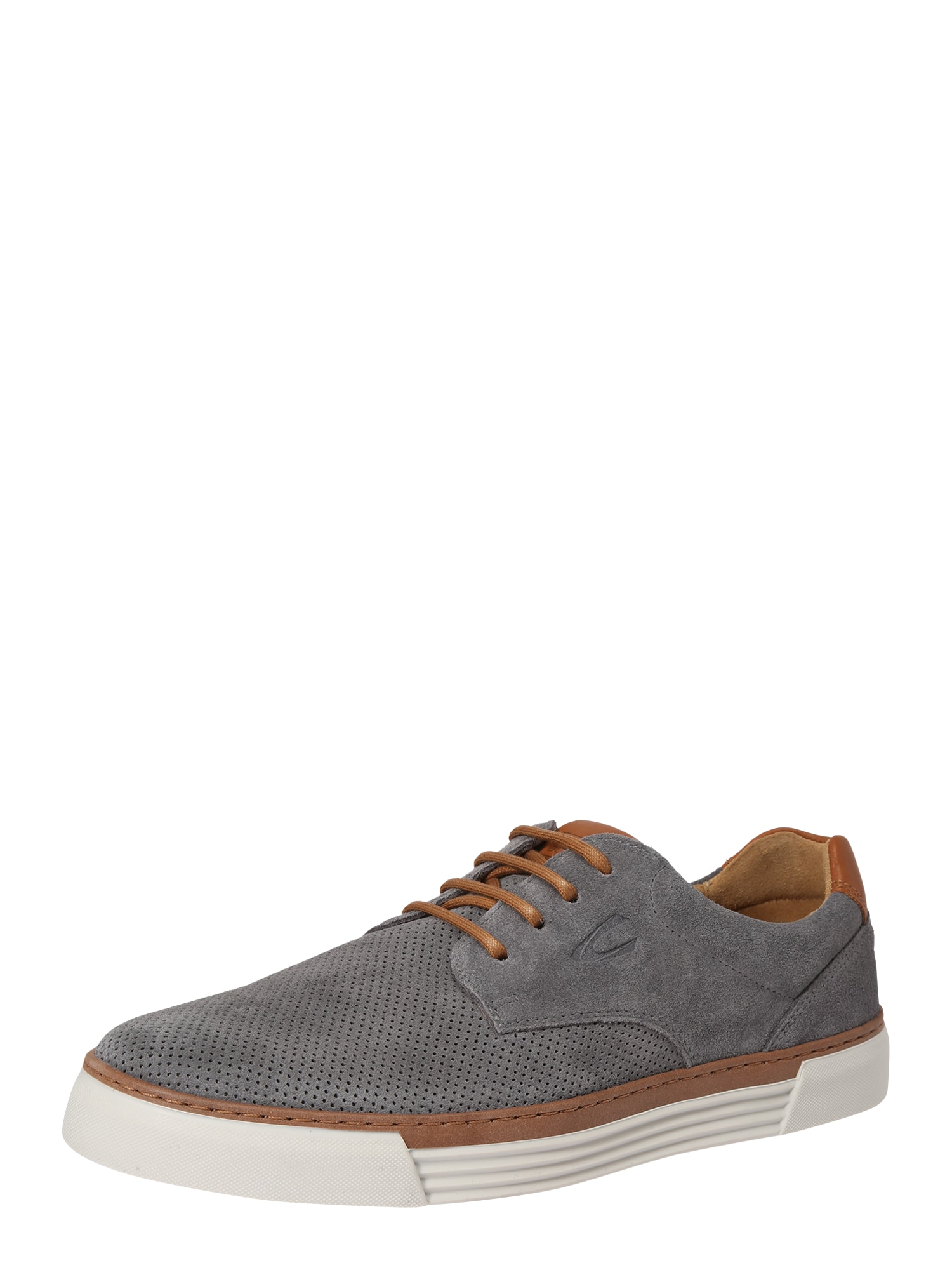 CAMEL ACTIVE Sportinio stiliaus batai su raišteliais 'Racket' šviesiai pilka / ruda (konjako)