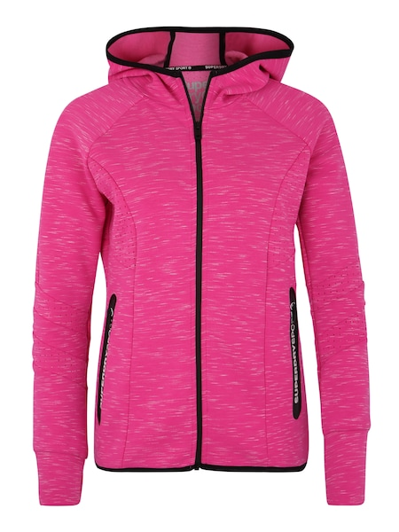 Sportmode für Frauen - Sweatjacke 'Core Gym Tech Panel' › Superdry › pink  - Onlineshop ABOUT YOU