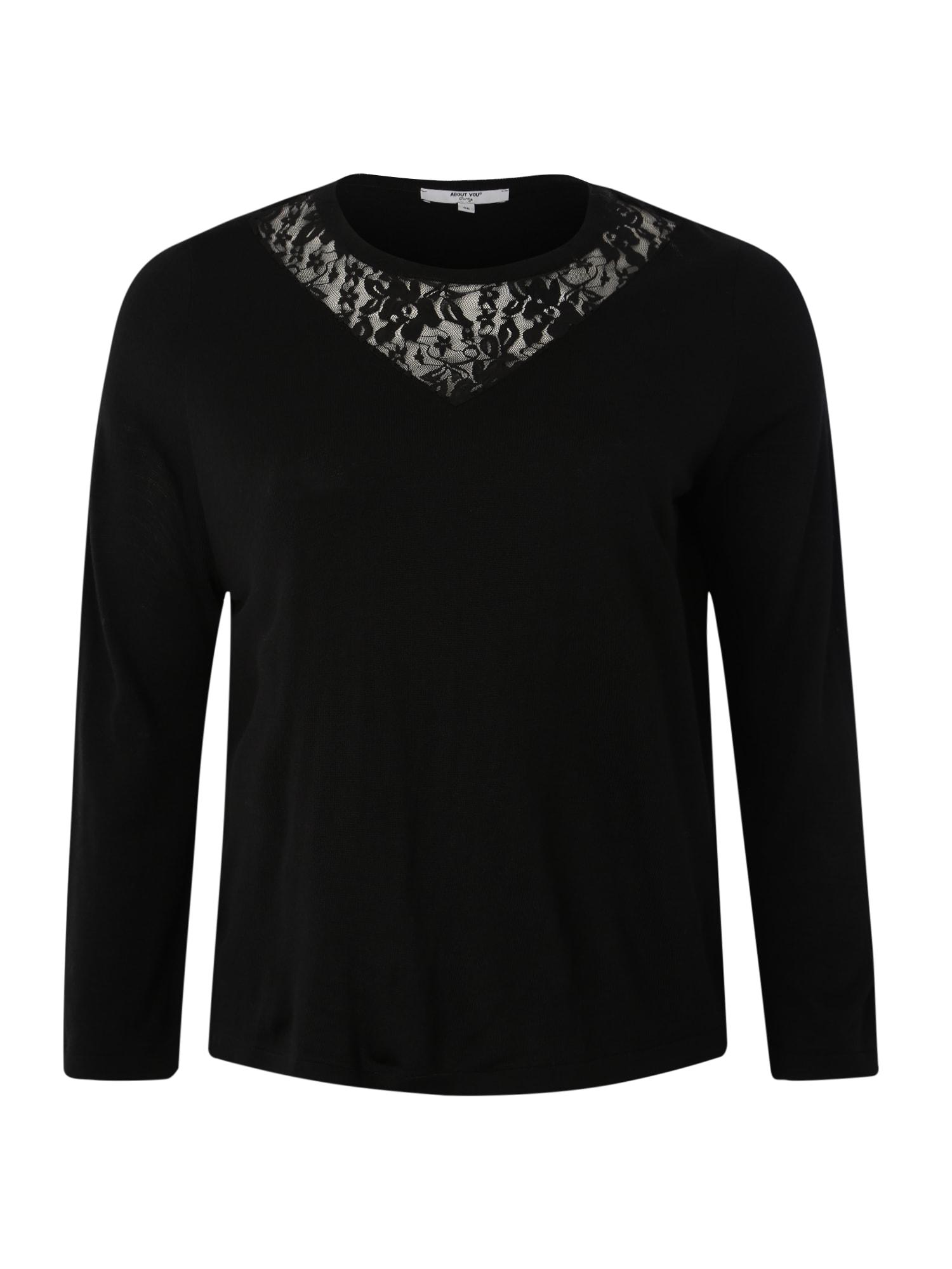 ABOUT YOU Curvy Megztinis 'Jasmina' juoda