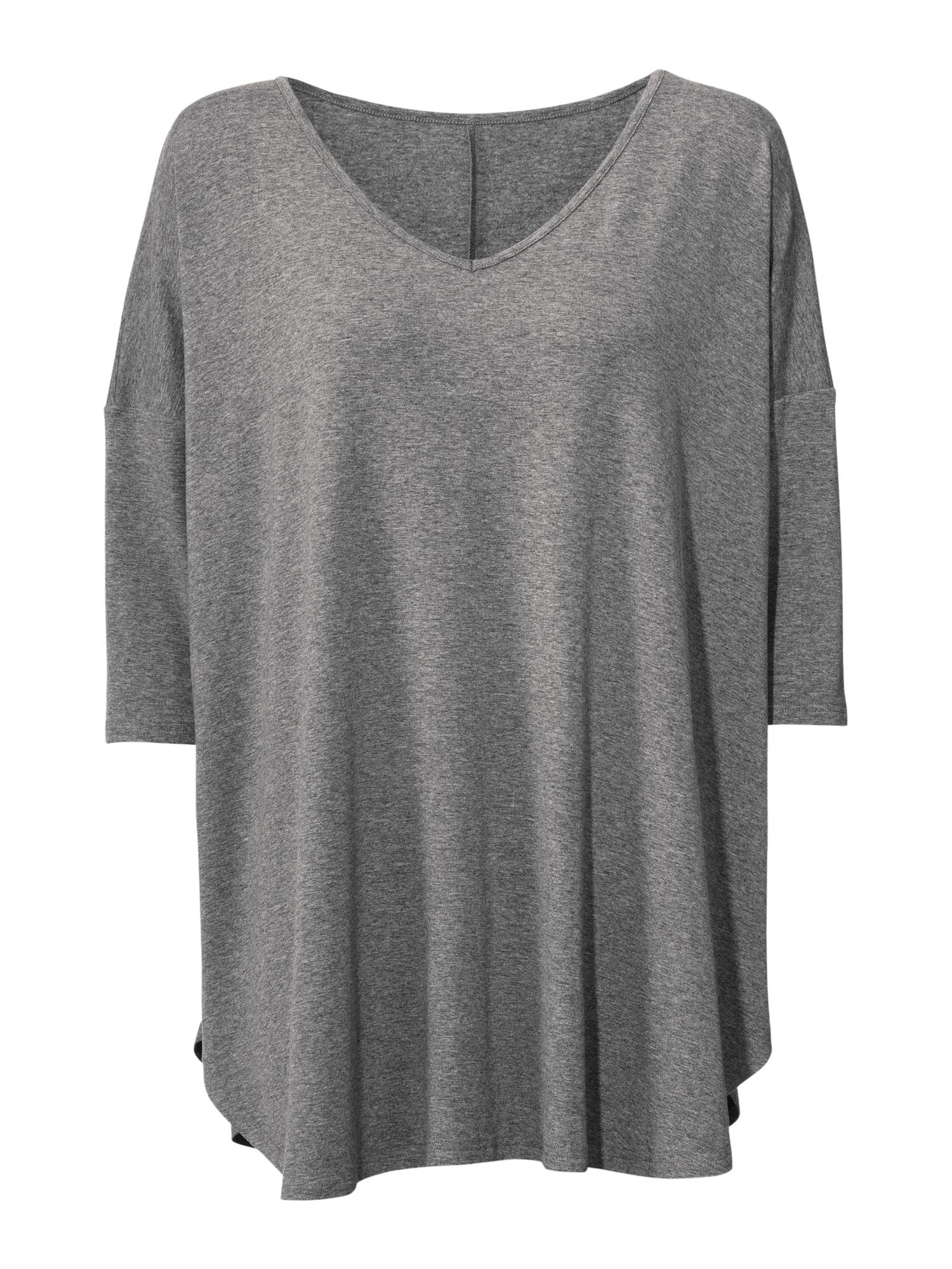 Linea Tesini by heine Laisvi marškinėliai margai pilka