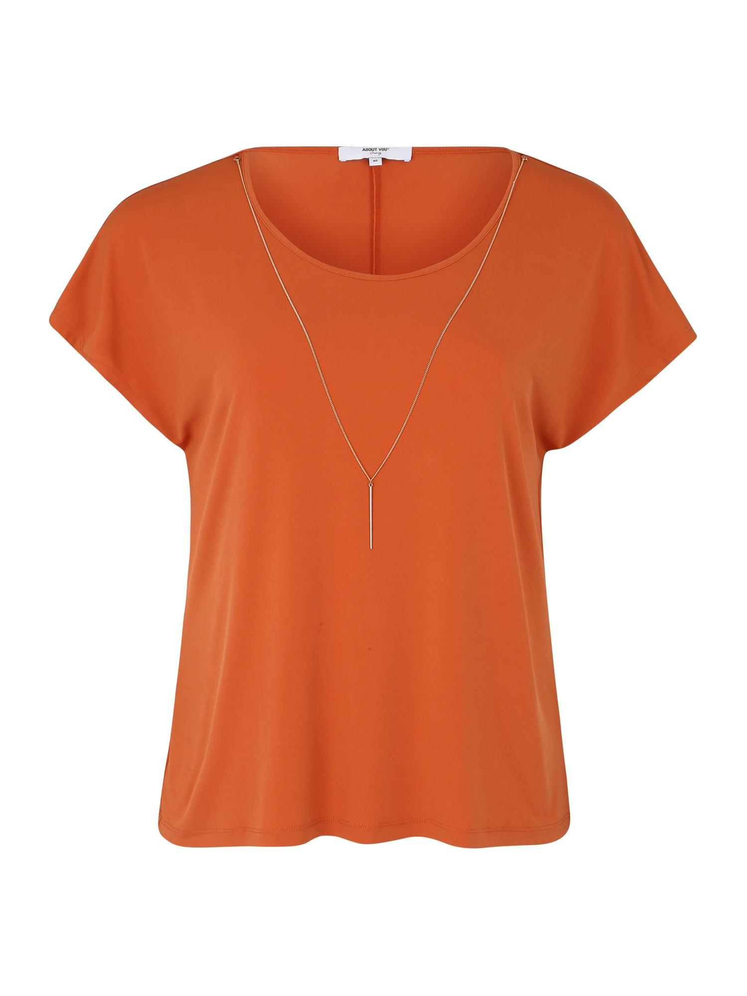 ABOUT YOU Curvy Marškinėliai 'Mandy' abrikosų spalva
