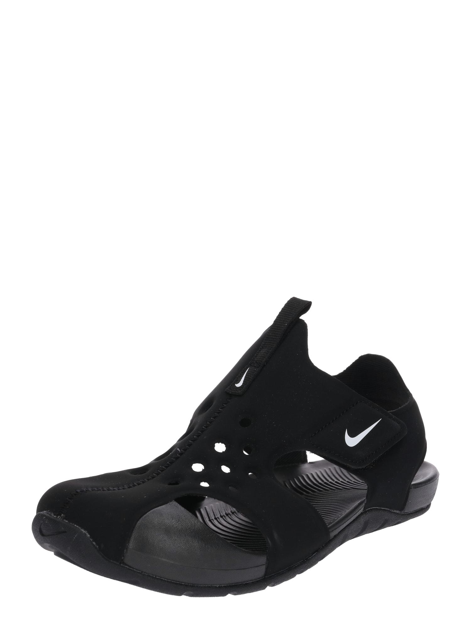 NIKE Plážové / kúpacie topánky 'Sunray Protect 2'  čierna / biela