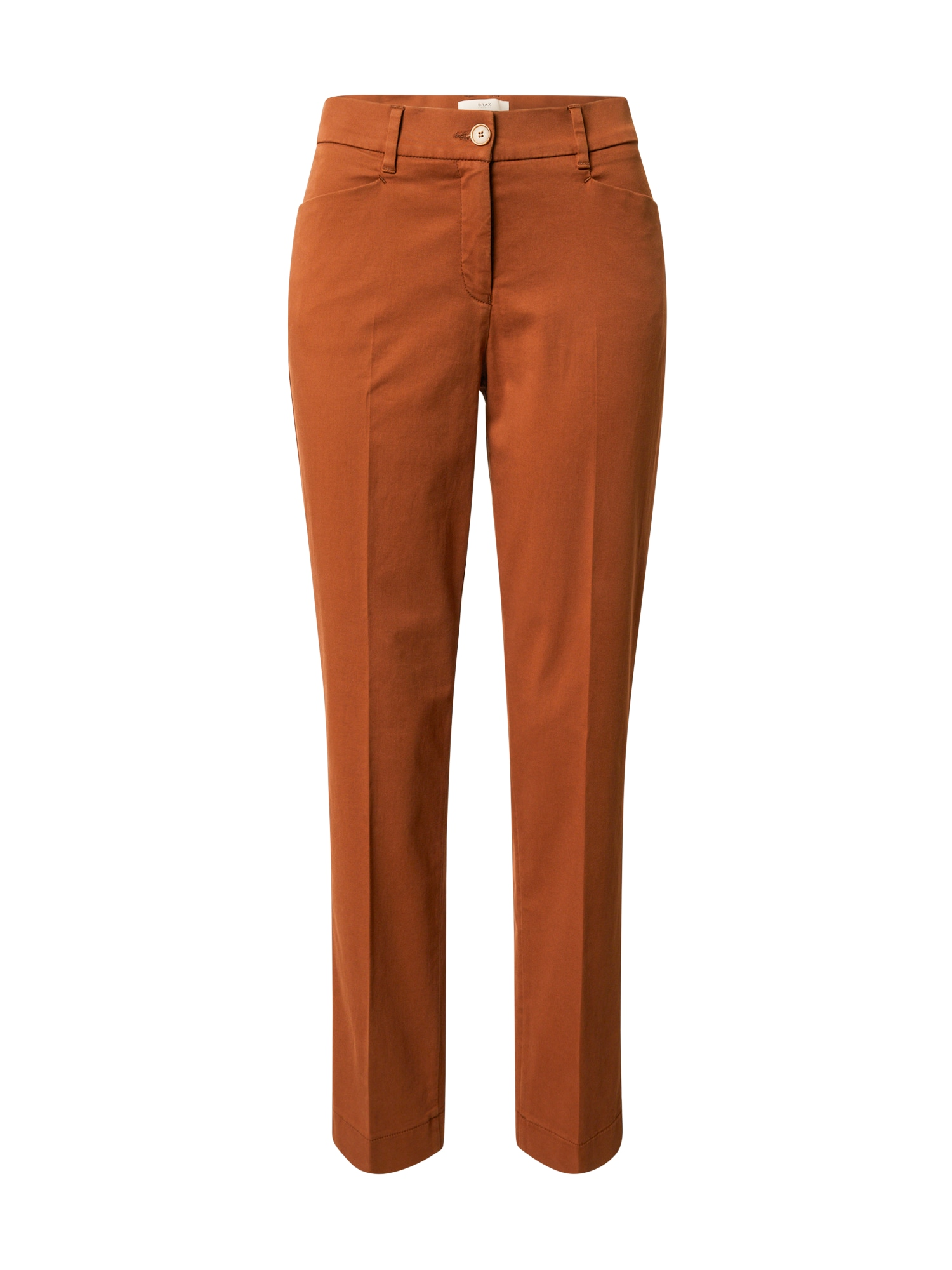 BRAX Kelnės su kantu 'MARA' ruda