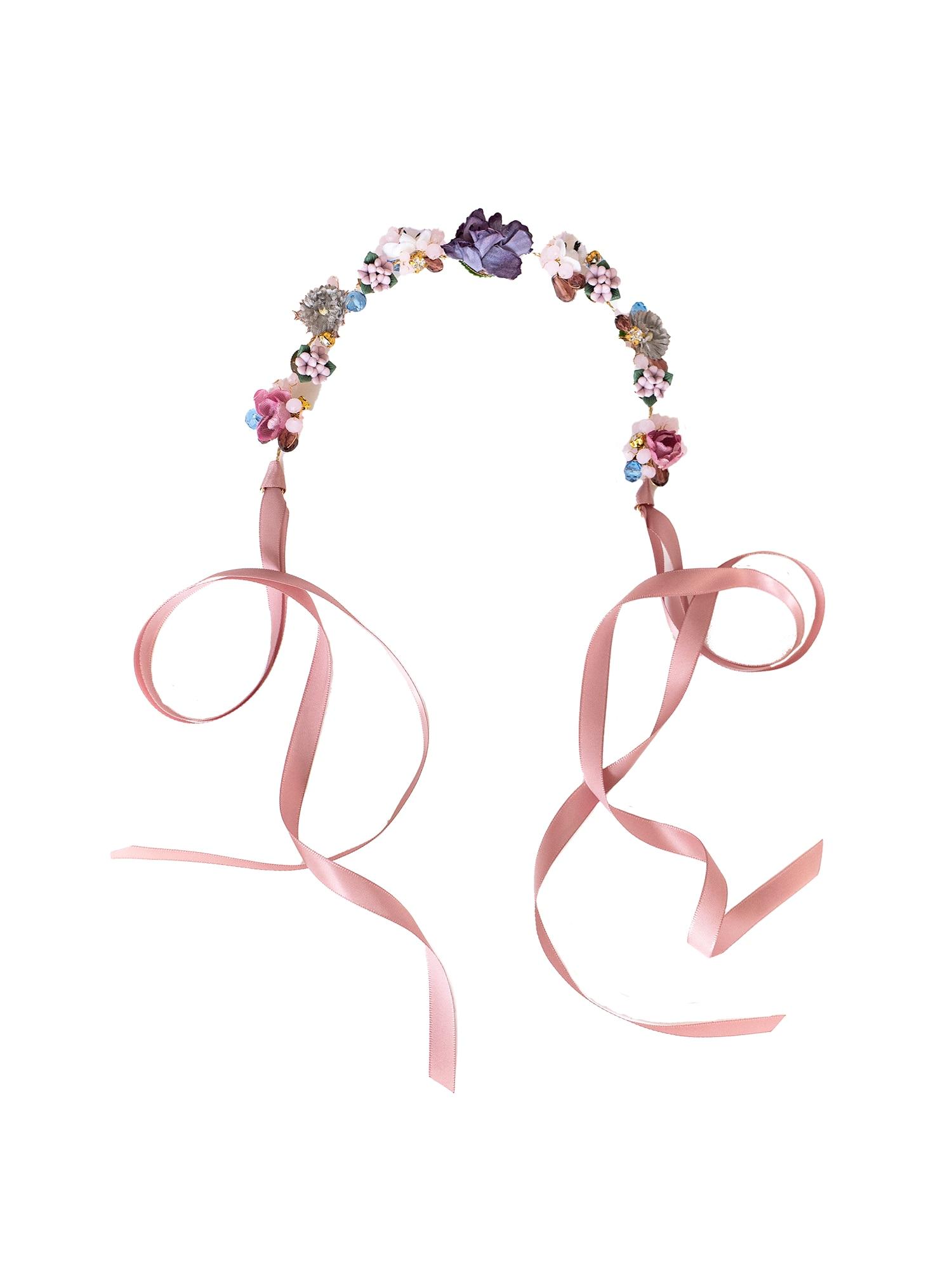 We Are Flowergirls Plaukų papuošalas 'Headpiece Yasmin' mišrios spalvos / rožinė