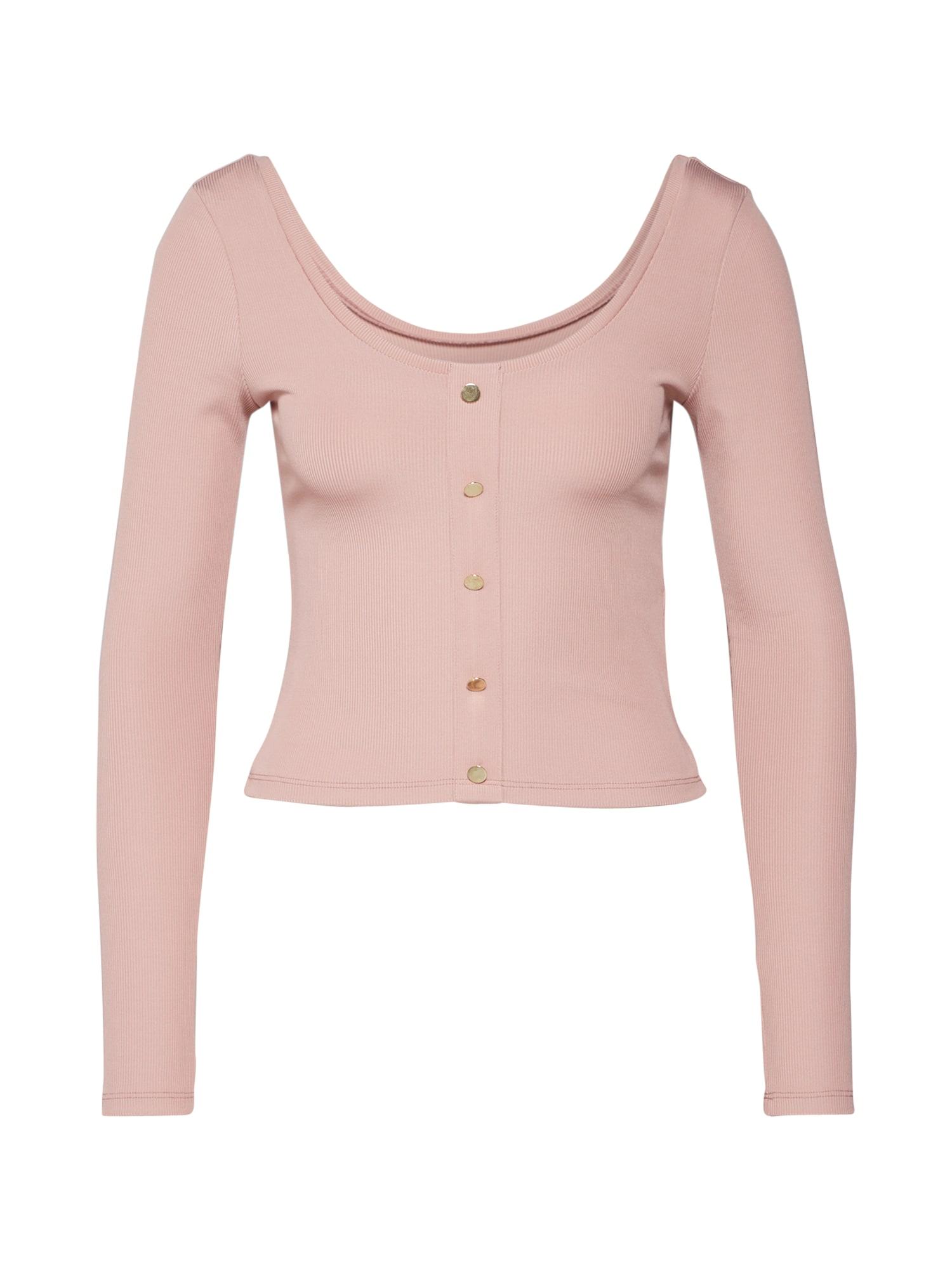 IVYREVEL Marškinėliai 'SCOOP NECK RIB TOP' rožių spalva