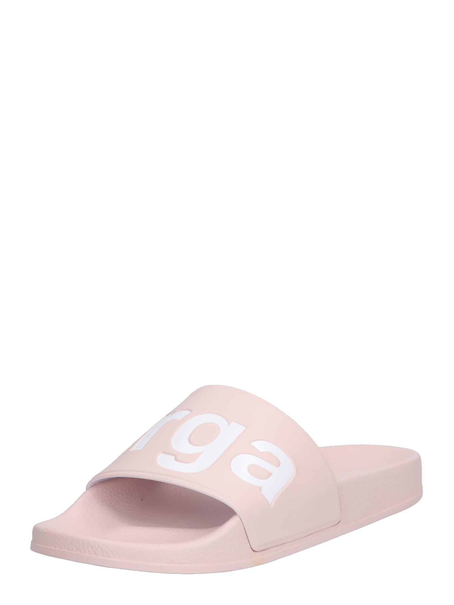 Pantofle růžová bílá SUPERGA
