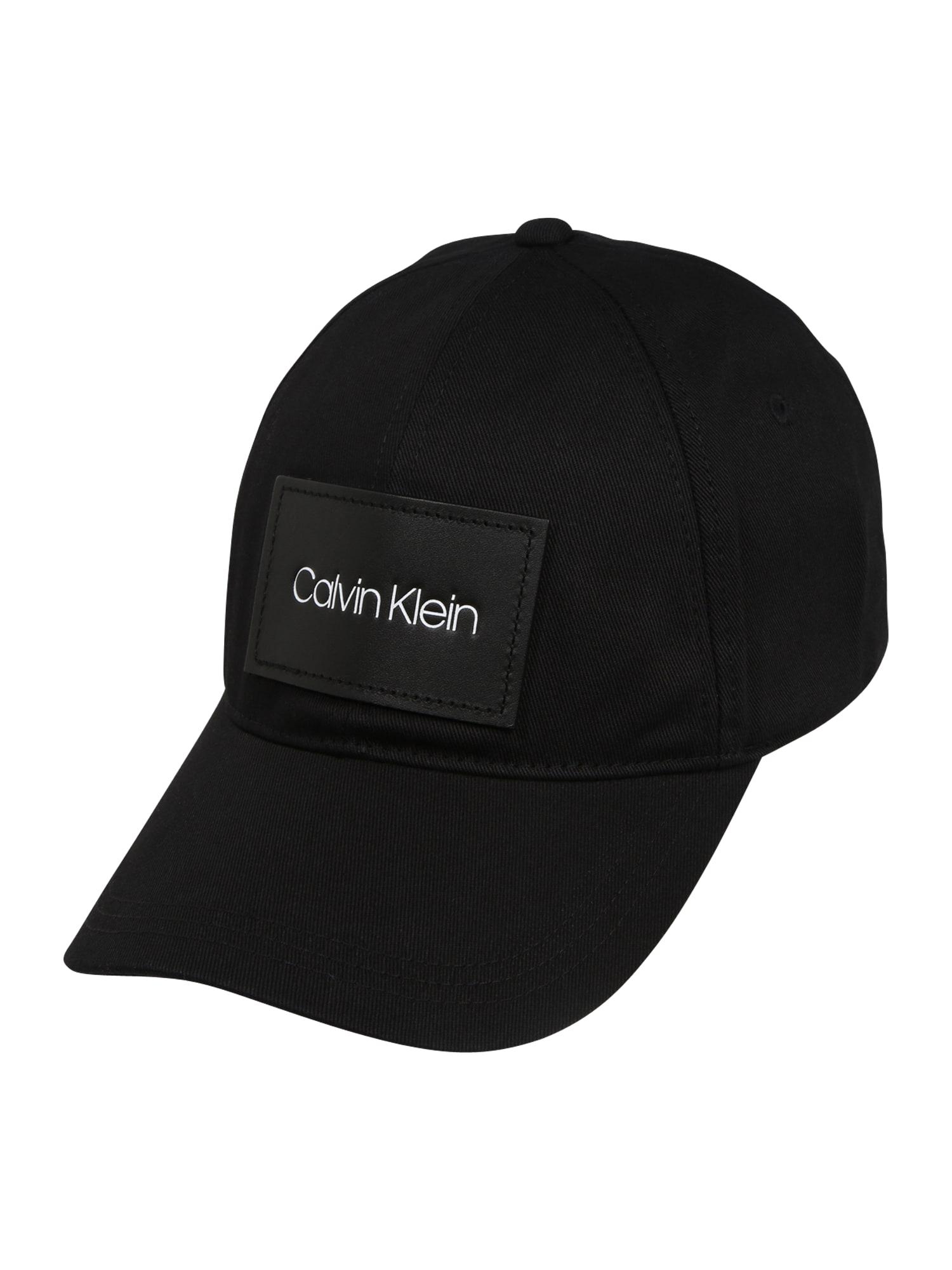 Calvin Klein Kepurė 'PATCH BB' juoda
