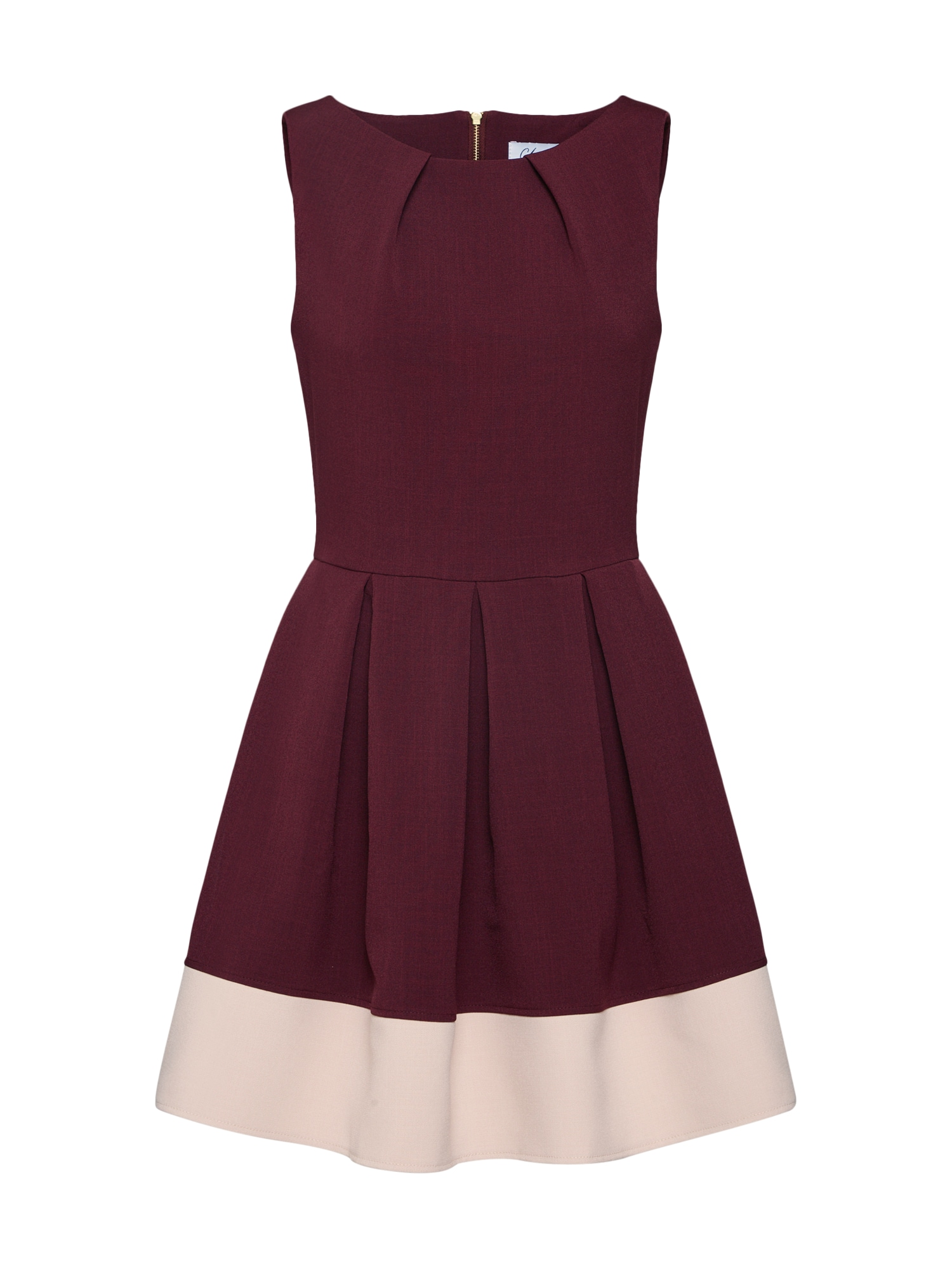 Koktejlové šaty burgundská červeň Closet London