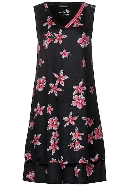 Kleider für Frauen - STREET ONE Kleid altrosa schwarz weiß  - Onlineshop ABOUT YOU