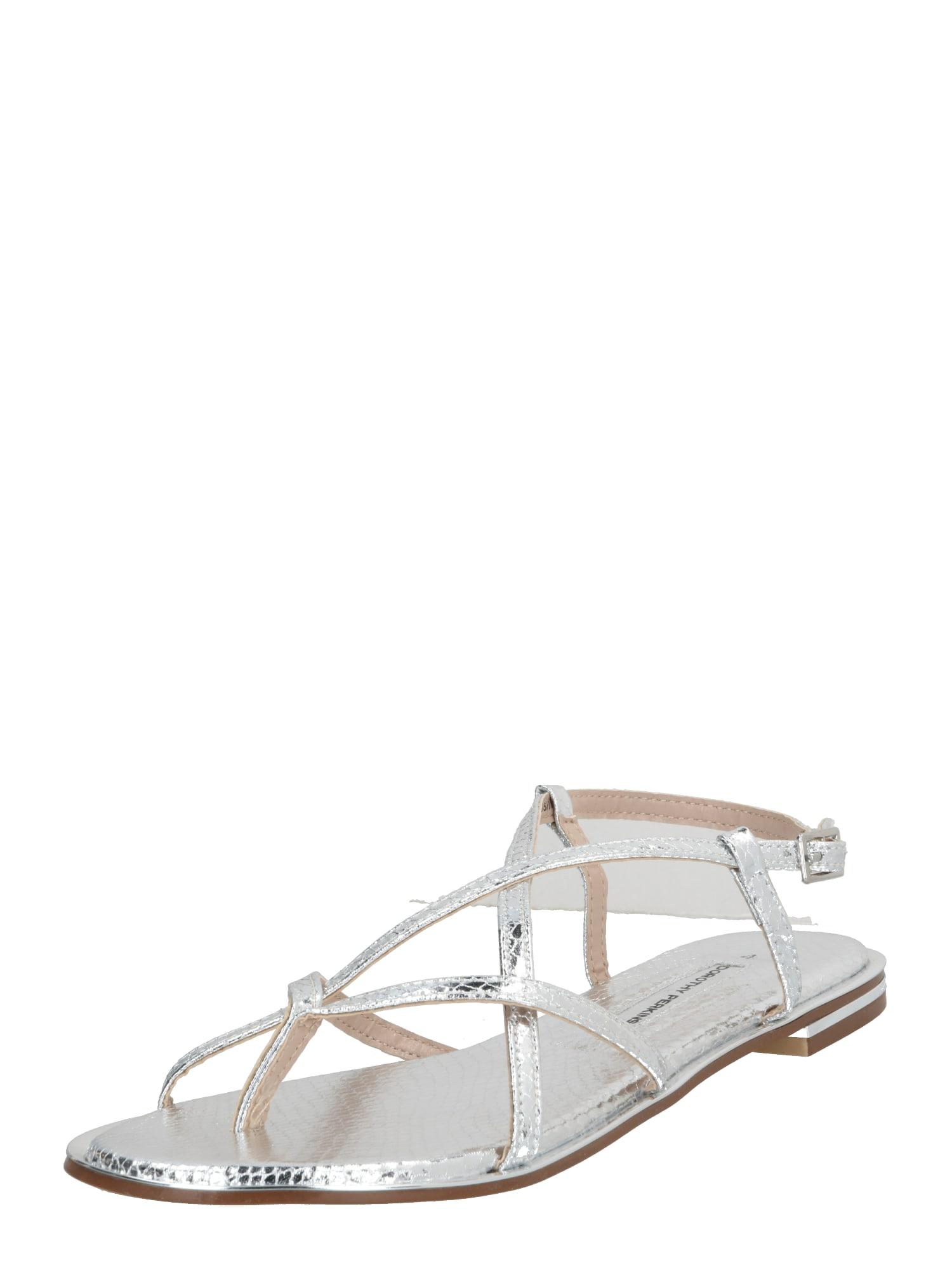 Dorothy Perkins Žabky 'Fresh Sandals'  stříbrná