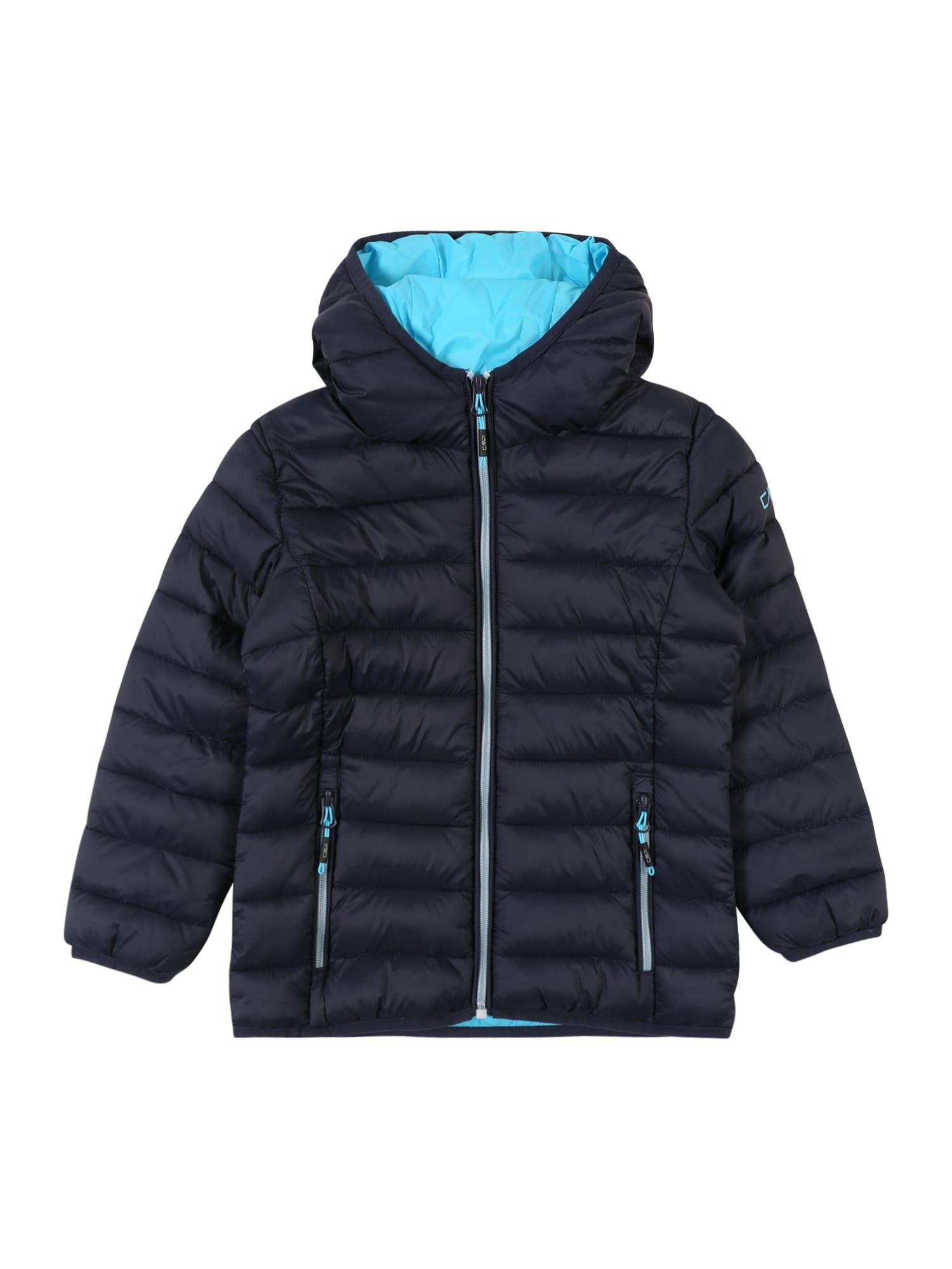 CMP Laisvalaikio striukė 'GIRL JACKET FIX HOOD' turkio spalva / nakties mėlyna