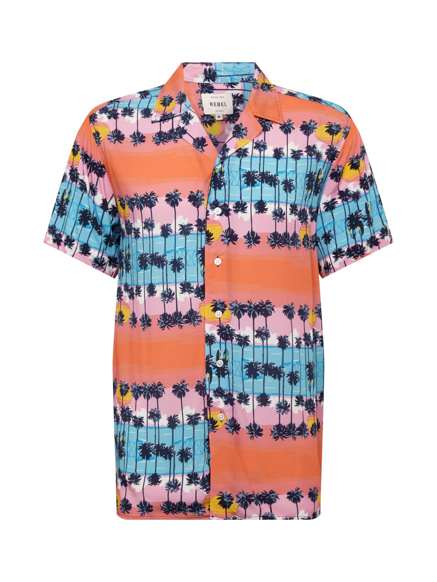 Redefined Rebel Košeľa 'Benjamin Shirt'  ružová / modré