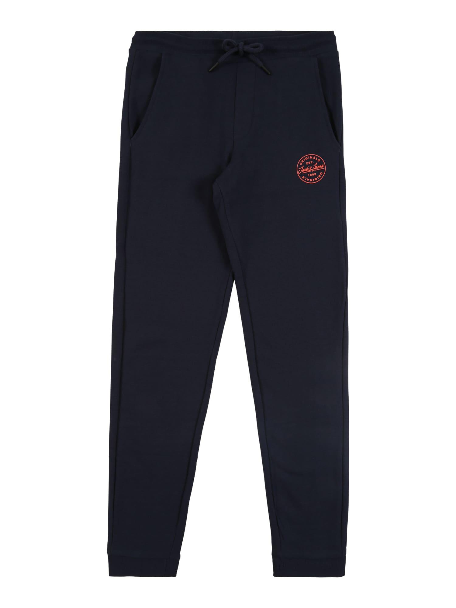 Jack & Jones Junior Sportinės kelnės 'JJIGORDON JJSHARK SWEAT PANTS VIY JR' tamsiai mėlyna