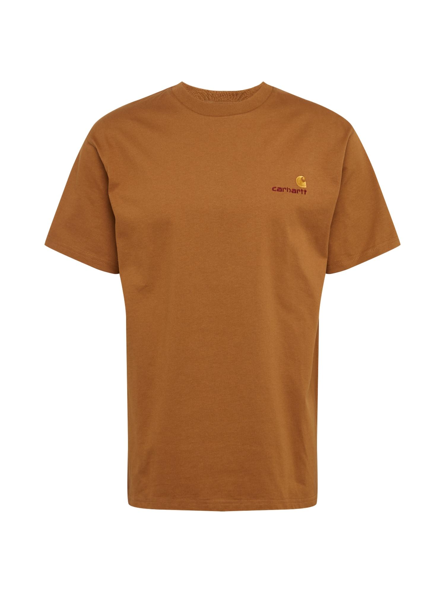 Carhartt WIP Marškinėliai šviesiai ruda
