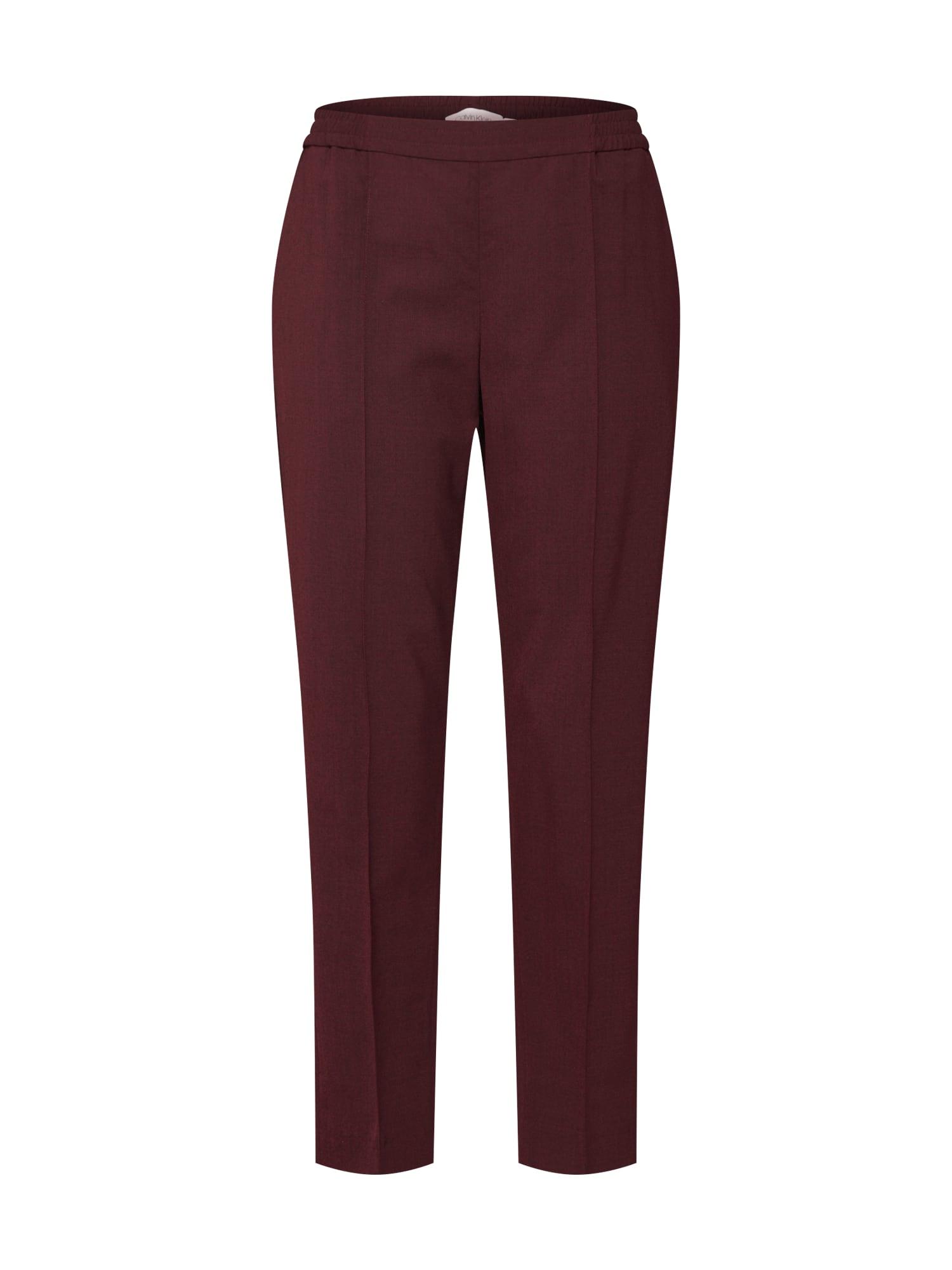Calvin Klein Kelnės su kantu vyno raudona spalva