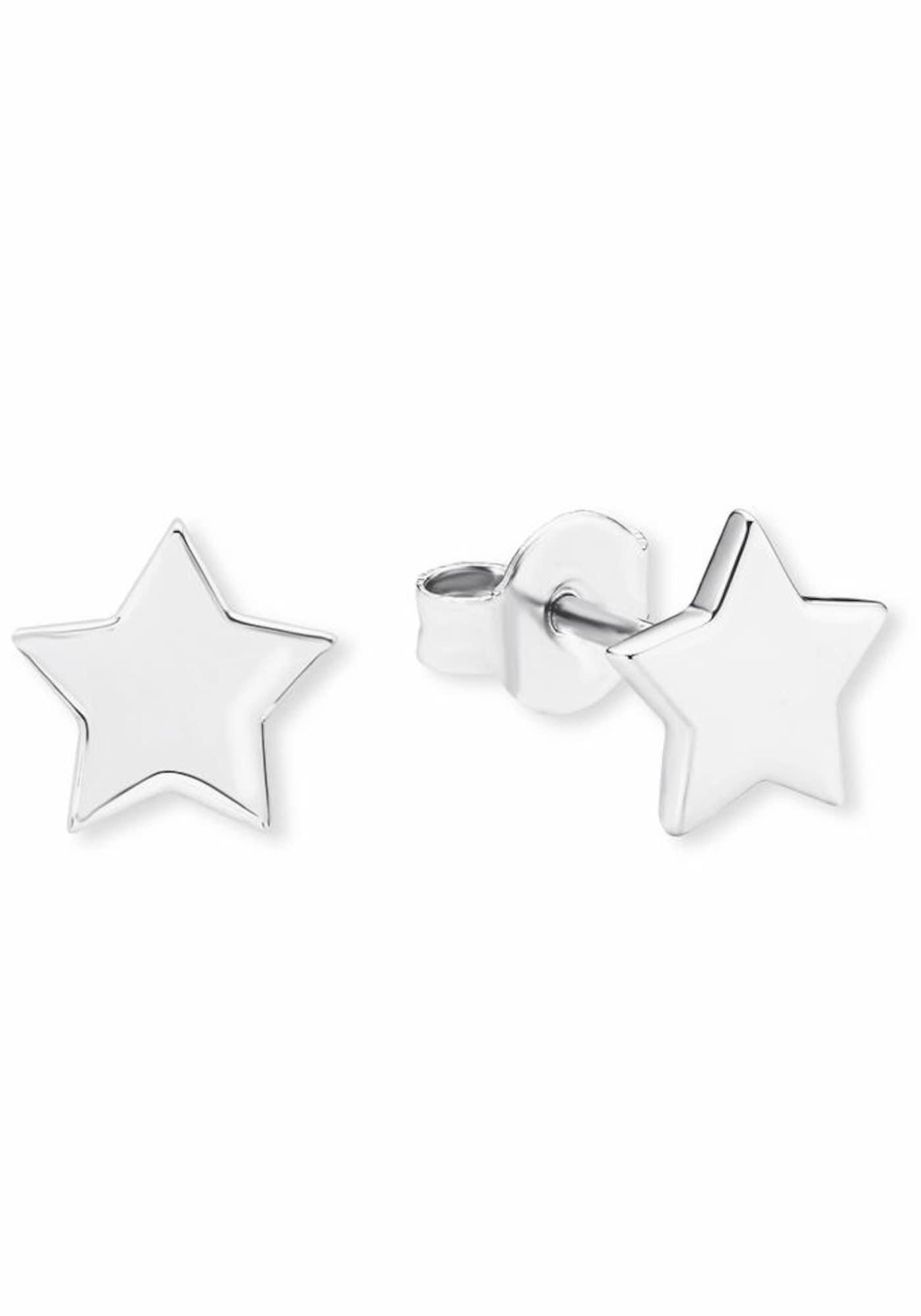 Ohrringe für Frauen - S.Oliver RED LABEL Paar Ohrstecker 'Stern, 2020060' silber  - Onlineshop ABOUT YOU