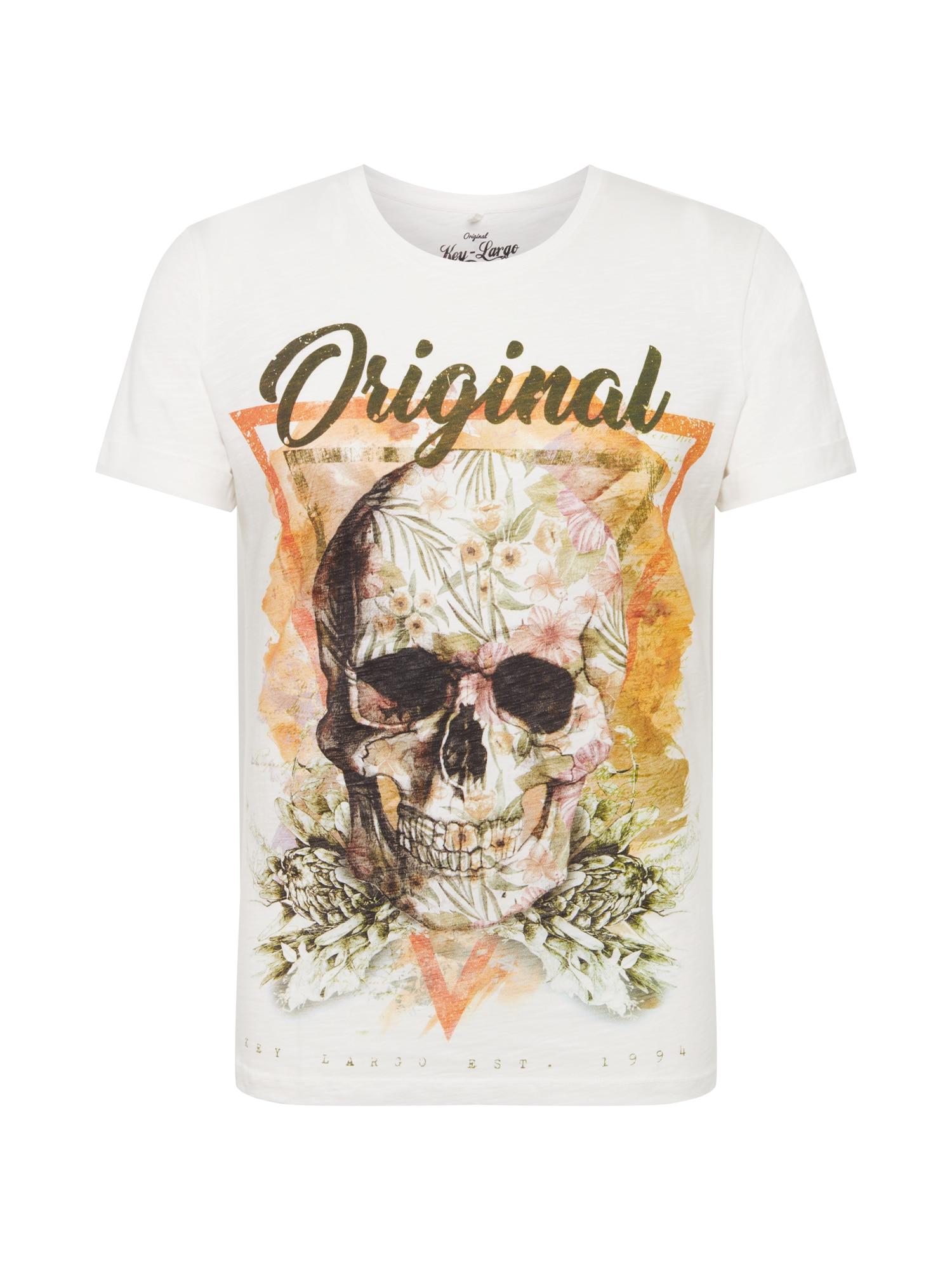 Tričko MT Triangle Skull mix barev bílá Key Largo