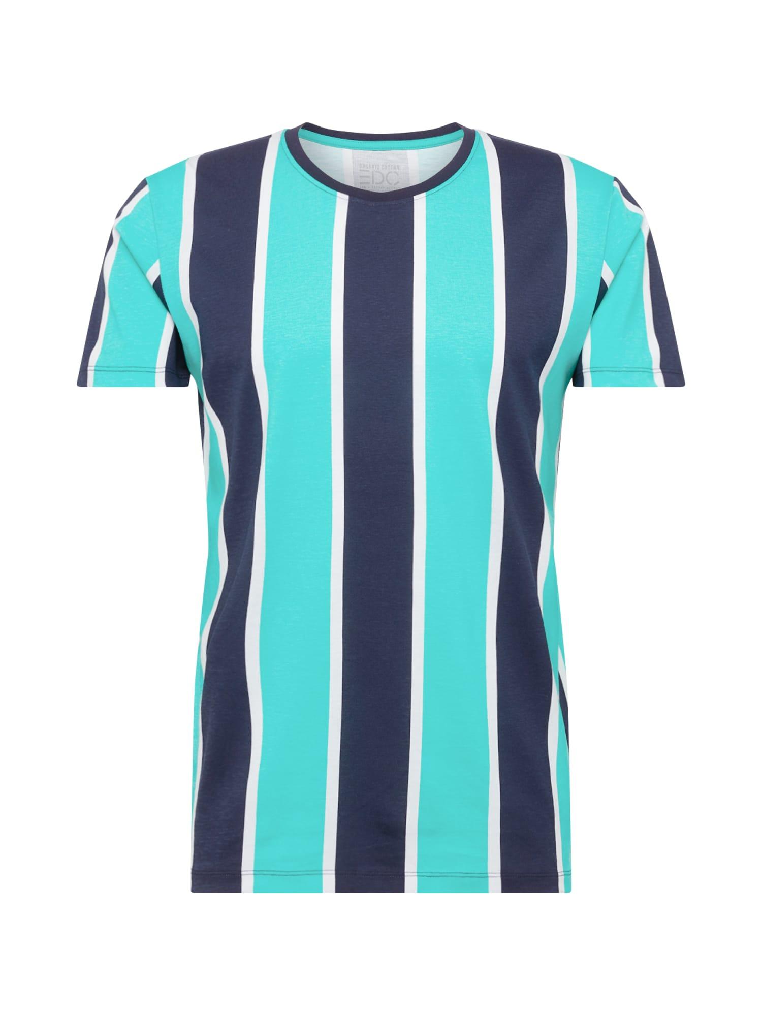 EDC BY ESPRIT Marškinėliai tamsiai mėlyna / vandens spalva
