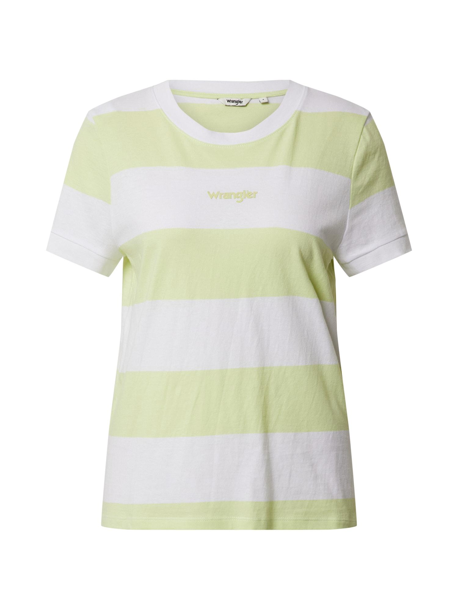 WRANGLER Marškinėliai geltona / balta