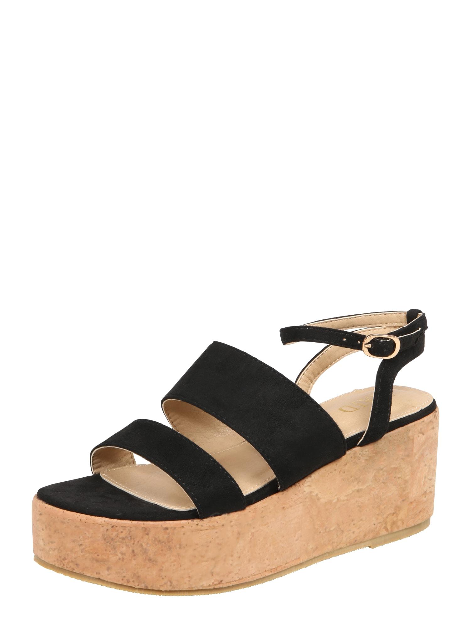 Páskové sandály LIONA černá Raid