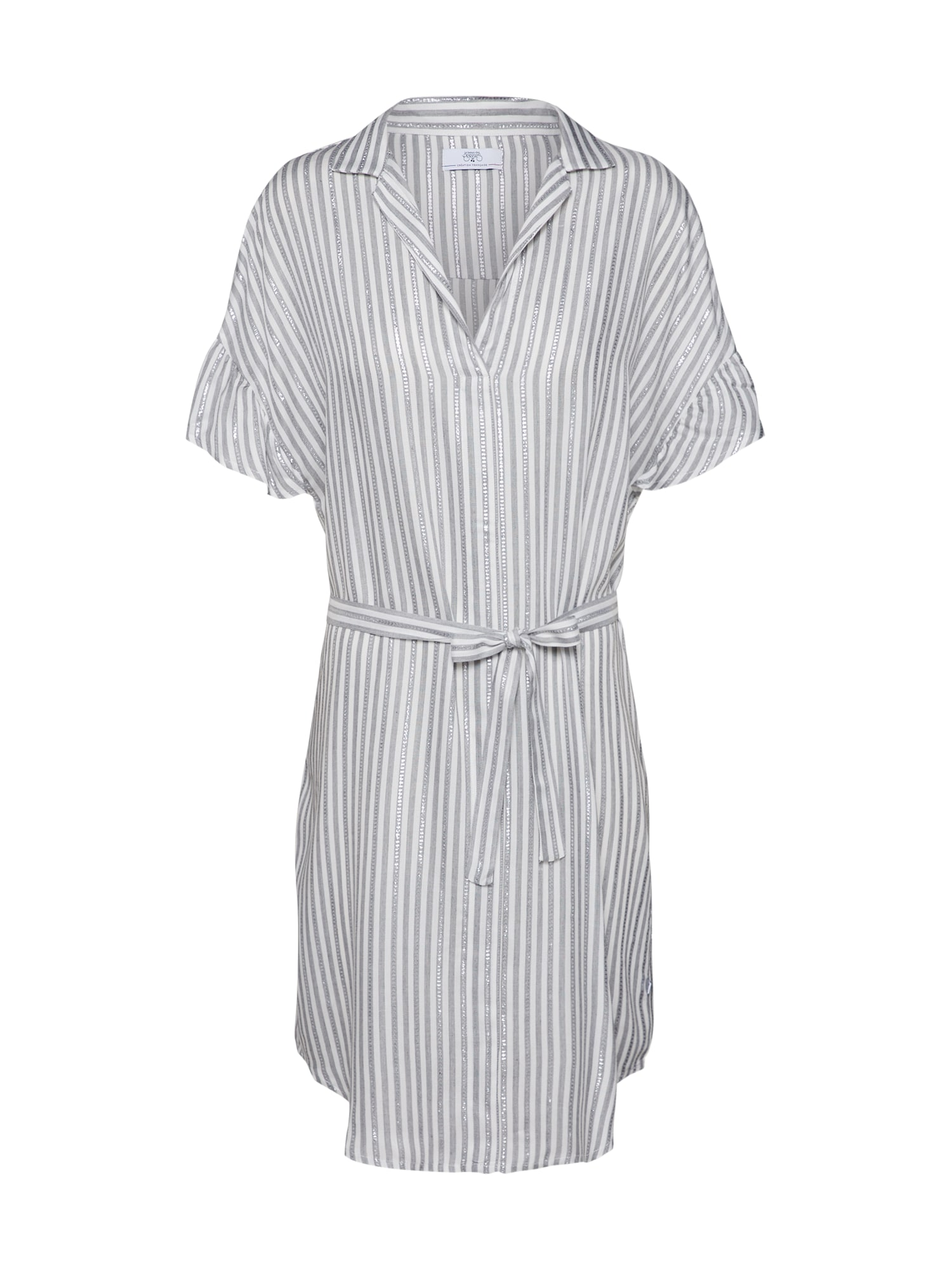 Košilové šaty PAULA šedá bílá Le Temps Des Cerises