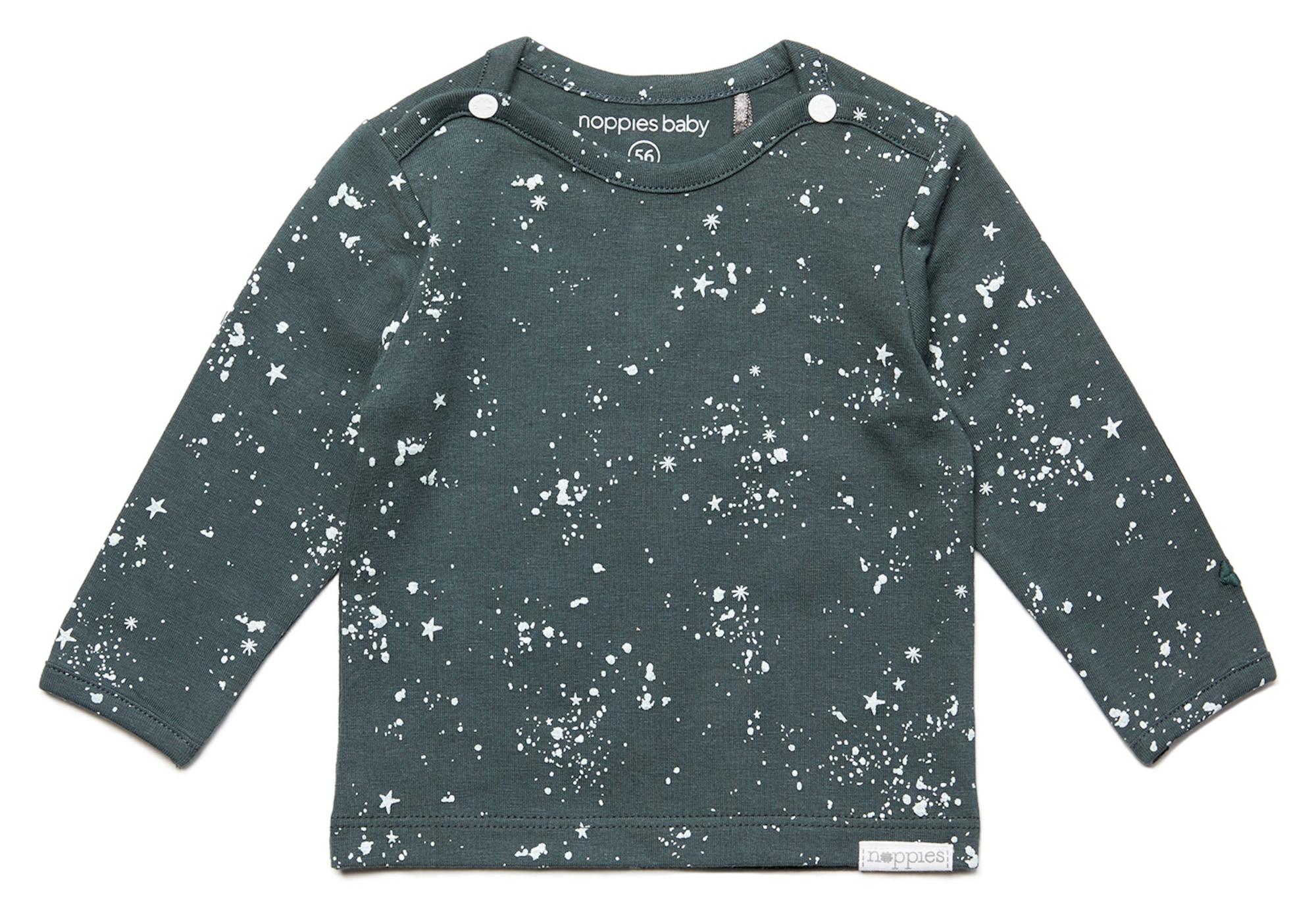 Noppies Marškinėliai 'Gale' bazalto pilka / balta