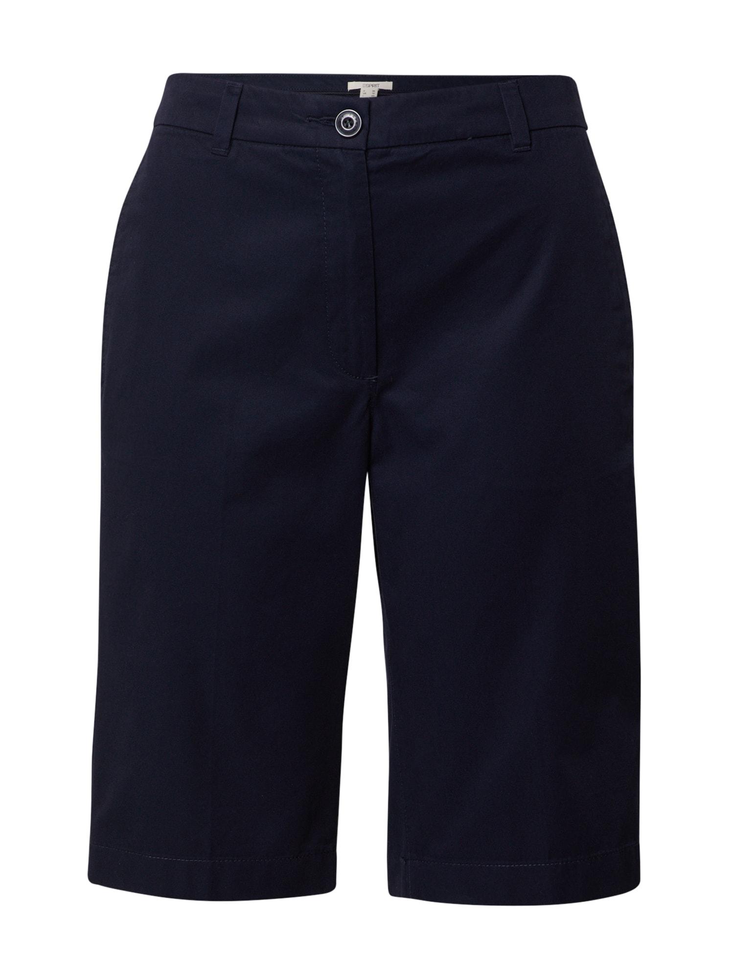 ESPRIT Kelnės 'Bermuda' tamsiai mėlyna